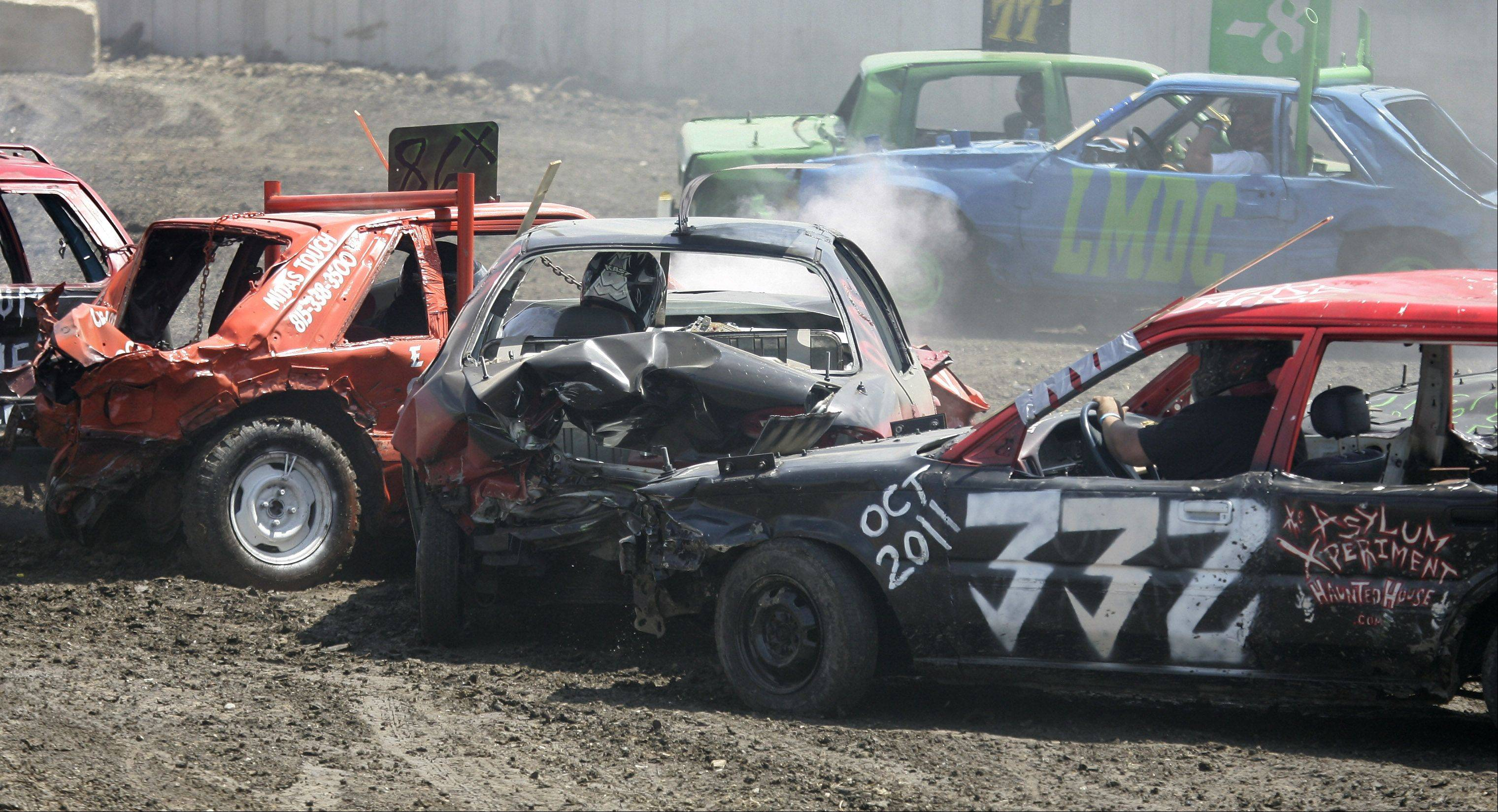 Gilbert R. Boucher II/gboucher@dailyherald.com, 2011 A demolition derby is on tap again this year at the Lake County Fair in Grayslake.