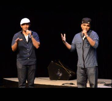Sanu John of Skokie (left) and Shawn Kurian of Wheeling make up the duo iLLest Vocals, a top 10 contender for Suburban Chicago's Got Talent.
