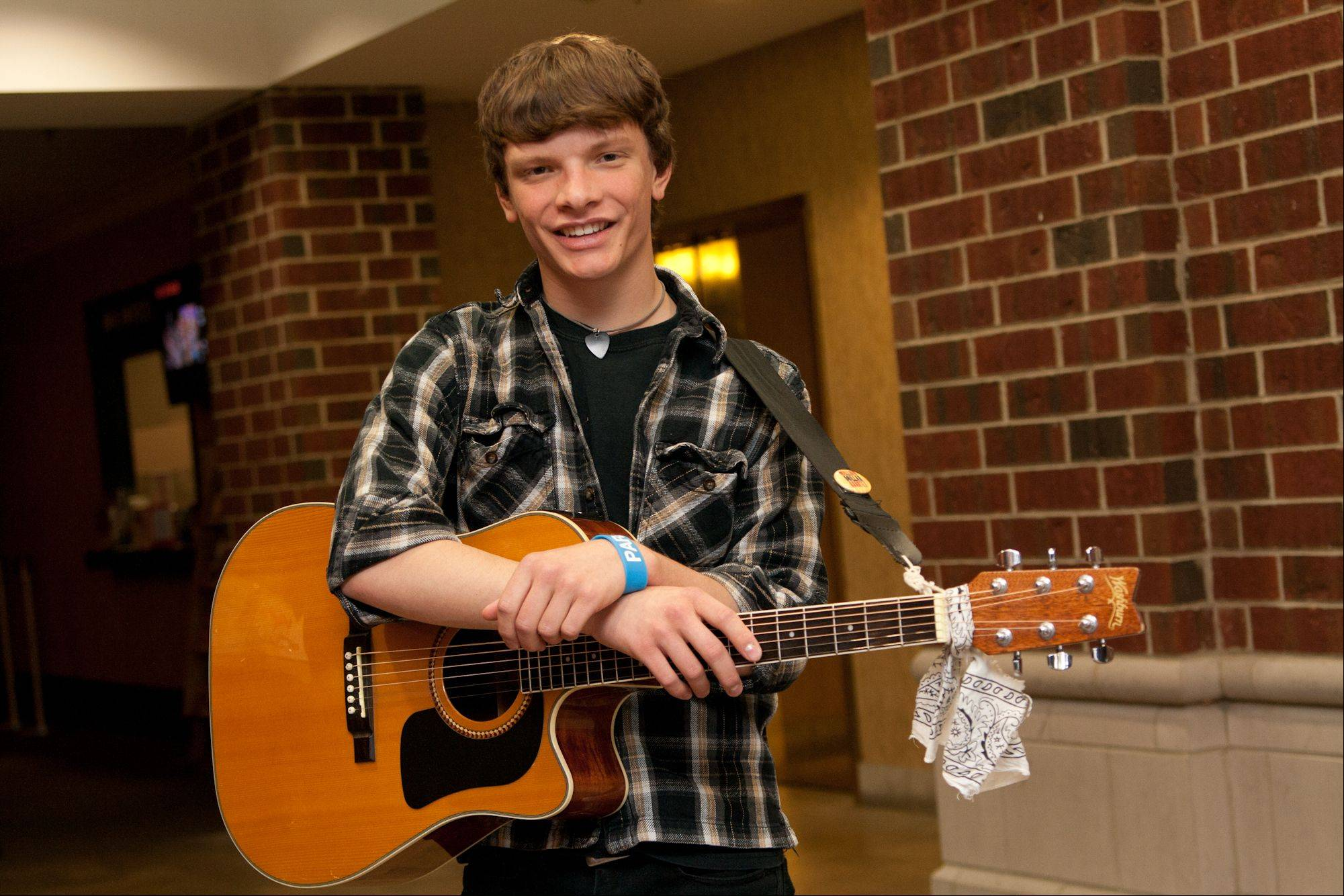 Suburban Chicago's Got Talent top 10 finalist James Woodraska (aka Woody James) of Millington.