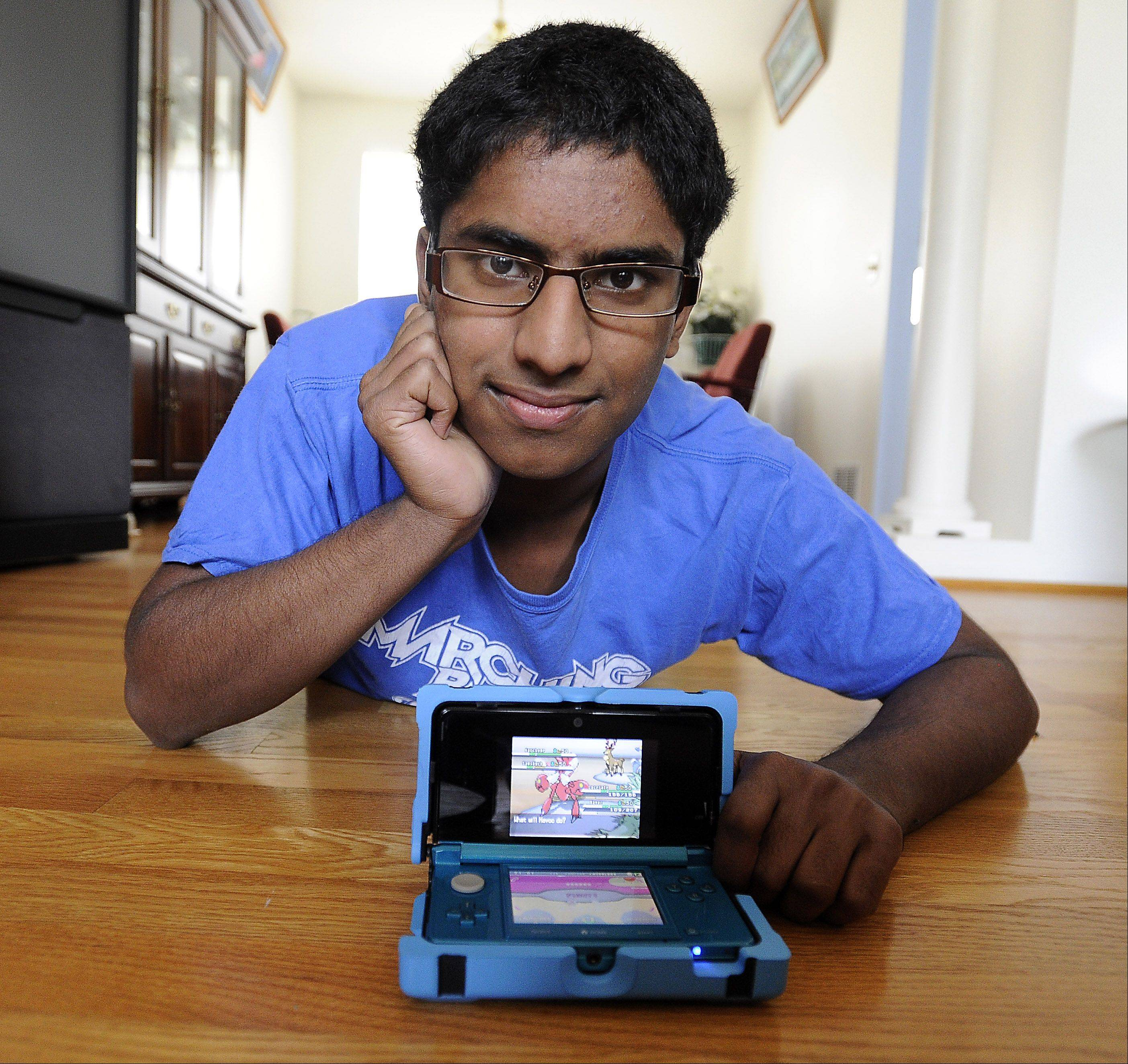 Manoj Sunny, 16, of Des Plaines is headed to Hawaii in August for the 2012 World Pokemon Championships. He earned a spot in the world championships by finishing fourth in the national finals earlier this month.