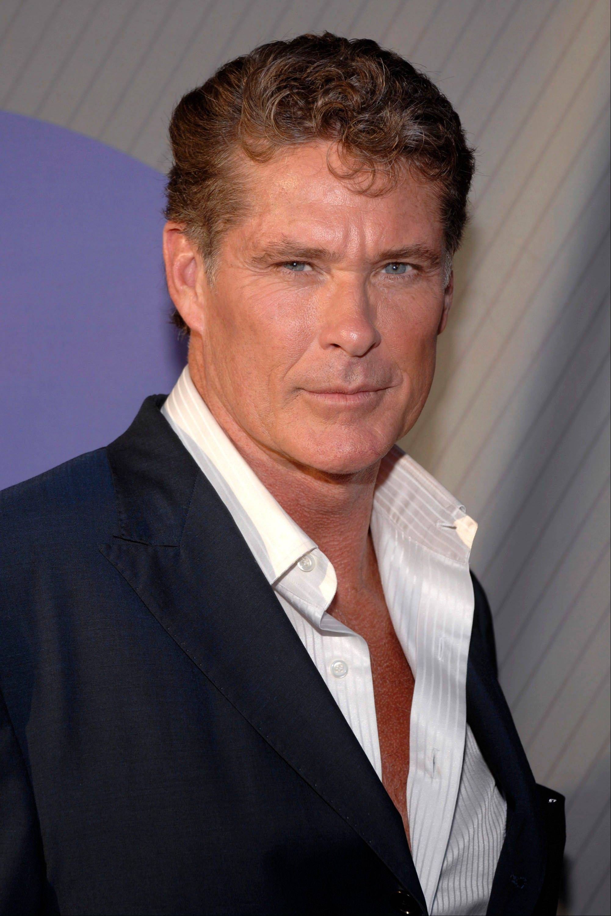 In this July 2007 file photo, actor David Hasselhoff attends the NBC All-Star Party in Beverly Hills, Calif. Hasselhoff flashes a dreamy smile and displays a lean tank top-clad torso in giant photo cutouts that his fans apparently can't leave alone. About 550 of the cutouts of Hasselhoff were stolen from outside Cumberland Farms convenience stores in recent weeks. Cumberland brand strategy specialist Kate Ngo says only about 20 remain for the roughly 570 stores in New England and Florida.