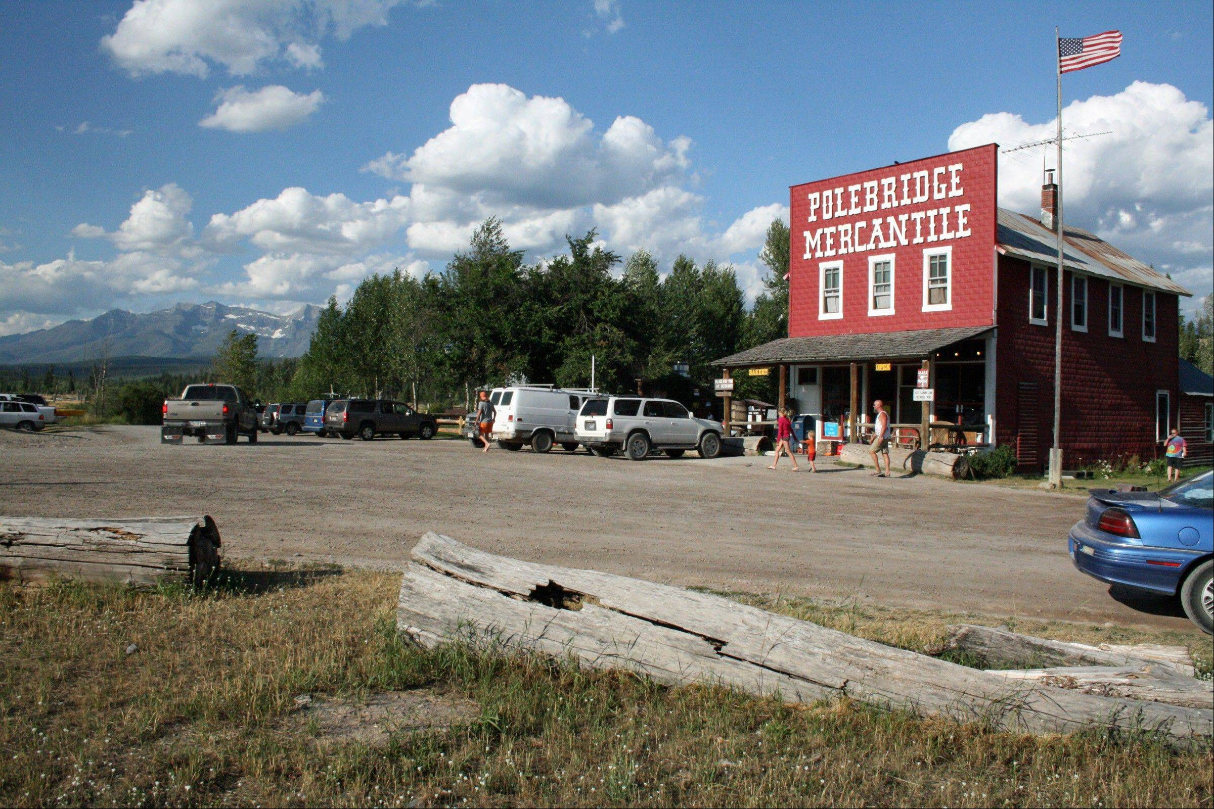 Polebridge Mercantile is a mile from the northwestern entrance to Glacier National Park.