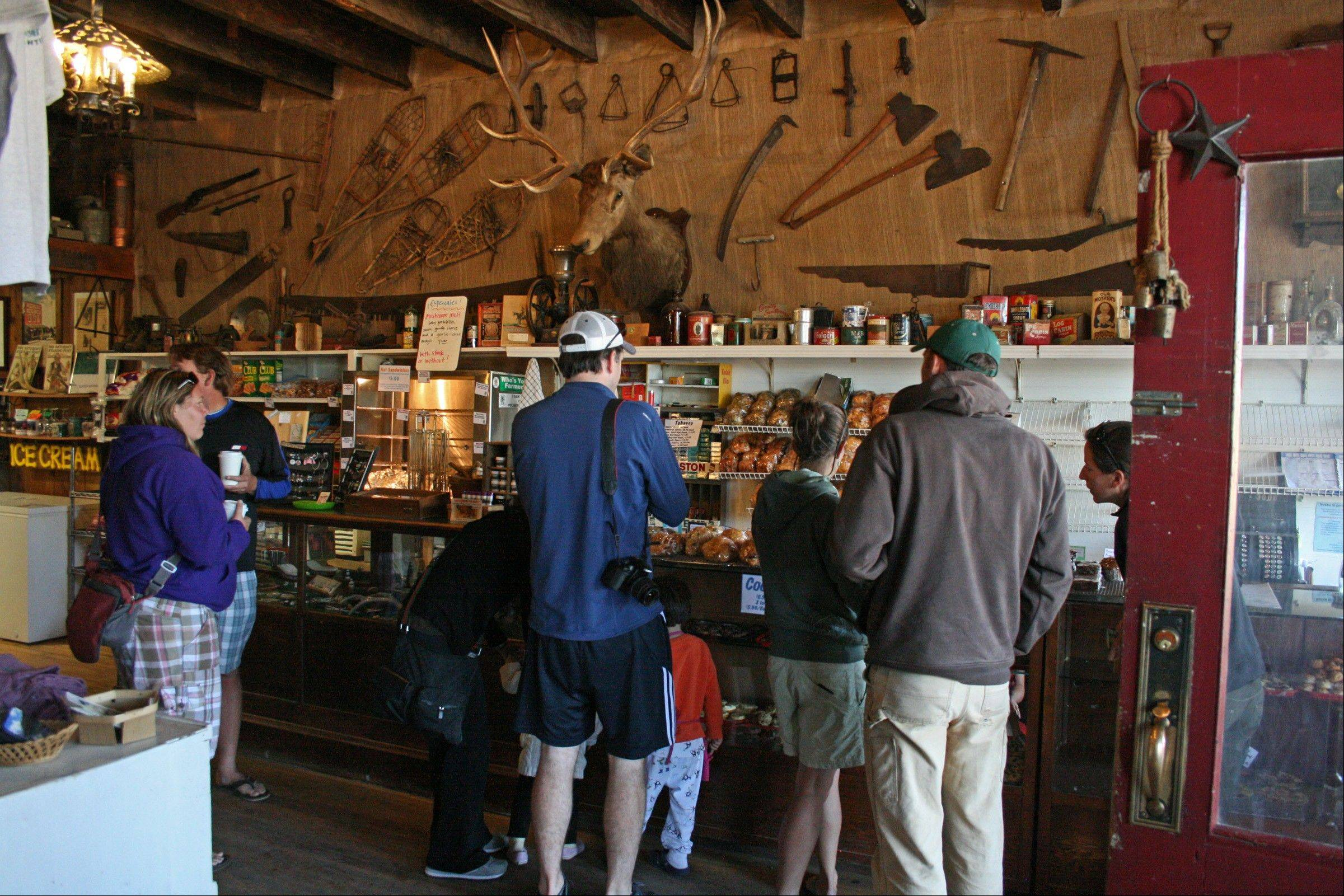 Park visitors pick up food and other supplies for their trips into the park's North Fork.
