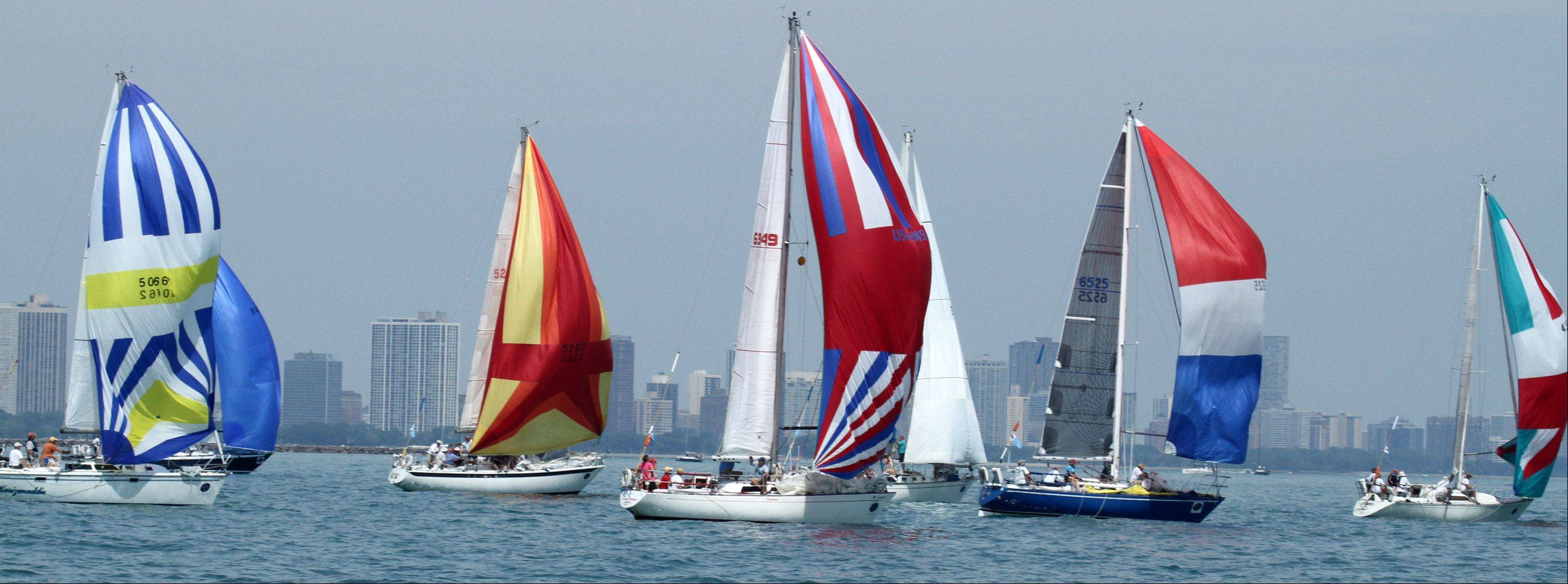 The start of the 104th Chicago Yacht Club Race to Mackinac.