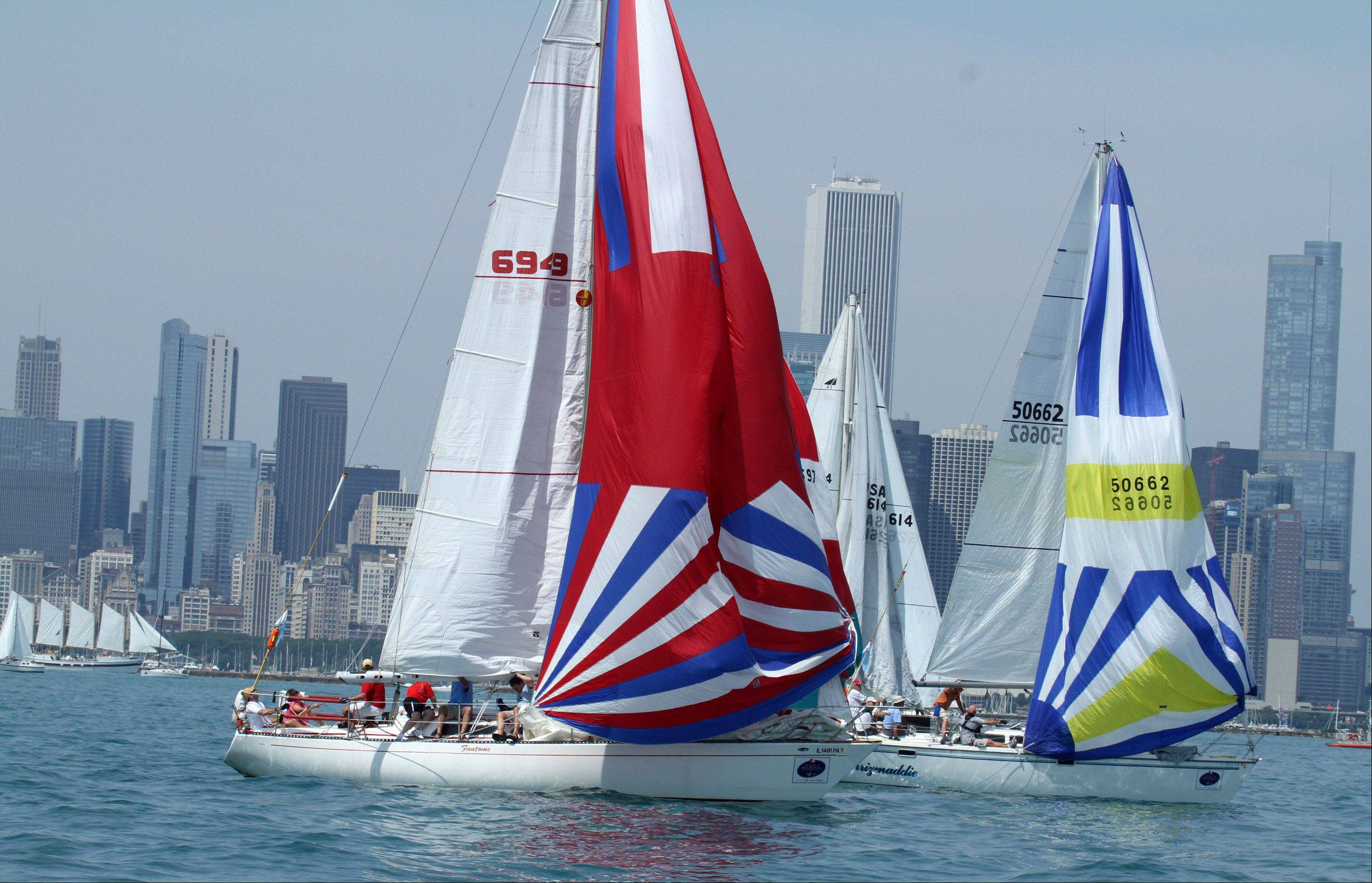 The start of the 104th Chicago Yacht Club Race to Mackinac on Lake Michigan near Chicago on Saturday, July 21.