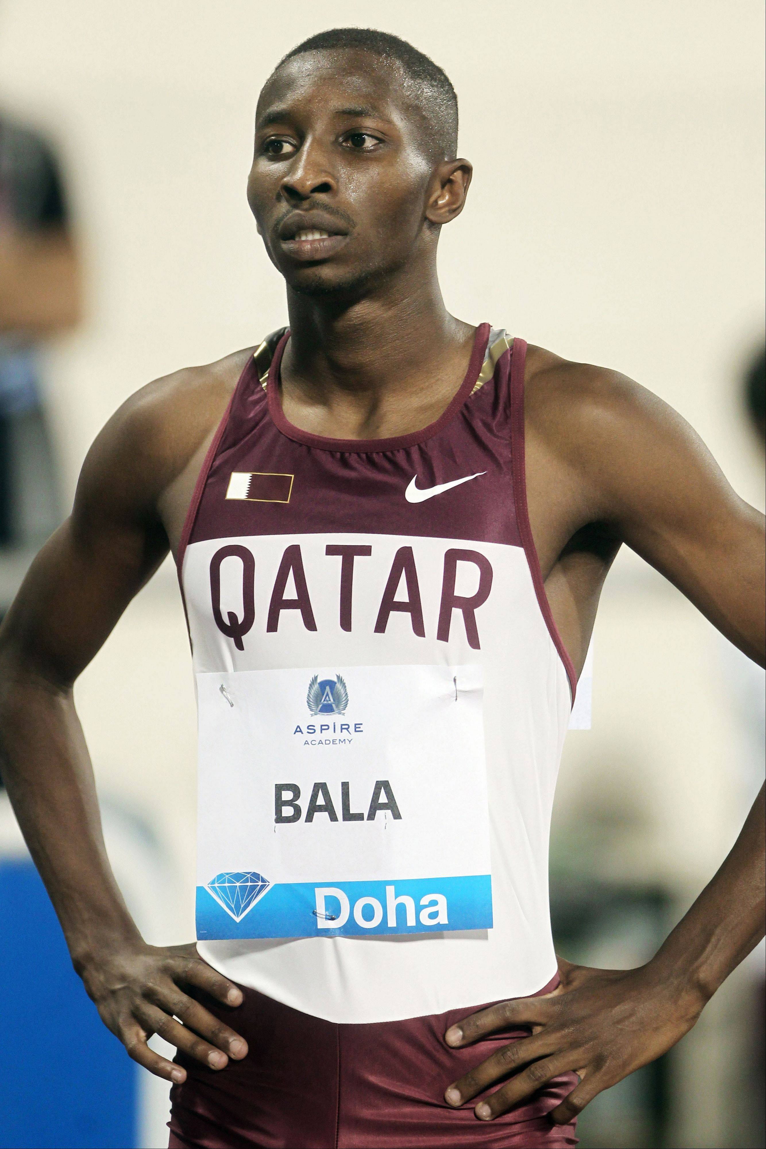In this Friday, May 11, 2012 file photo, Qatari athlete Musaab Abdulrahman Bala prepares for a race of Qatar Diamond League in Doha, Qatar. Despite their vast wealth and the fact state-owned companies splash out billions of dollars attracting high-profile sporting events, these Middle Eastern countries have collectively managed only eight Olympic medals.