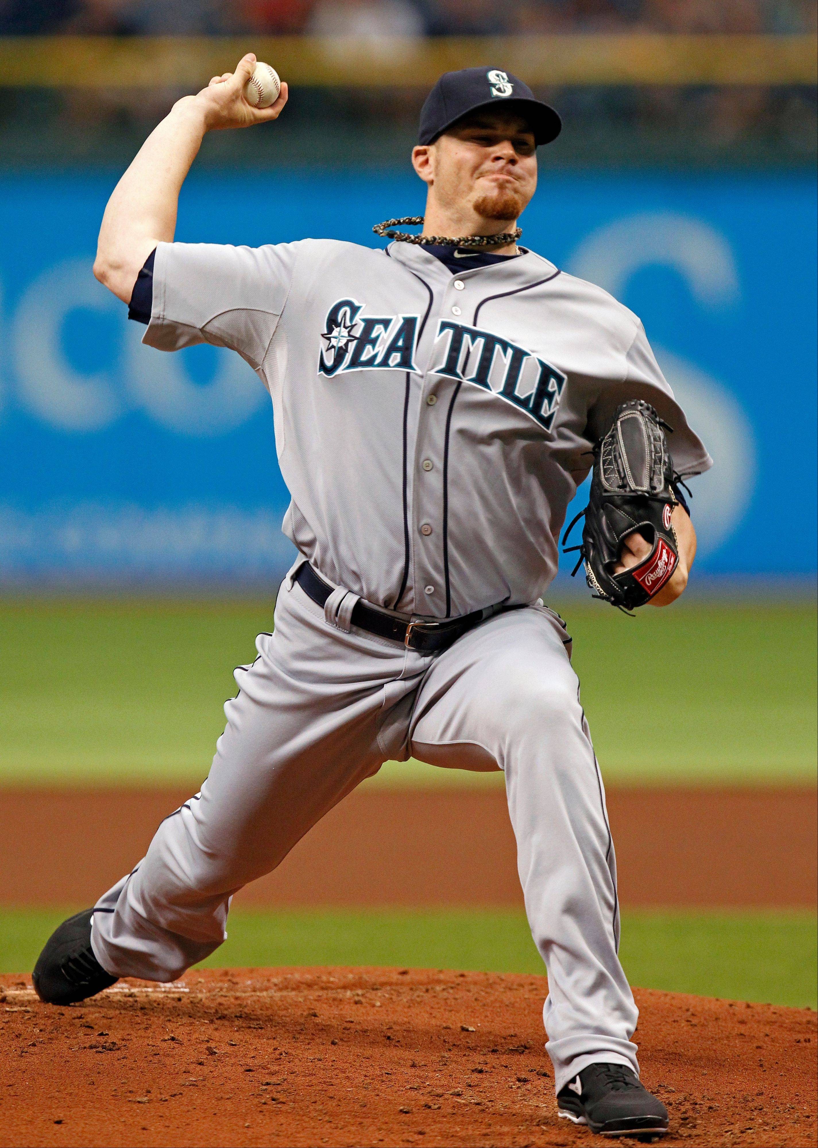 Seattle Mariners starting pitcher Blake Beavan struck out five and walked none Sunday in a road win over the Tampa Bay Rays.