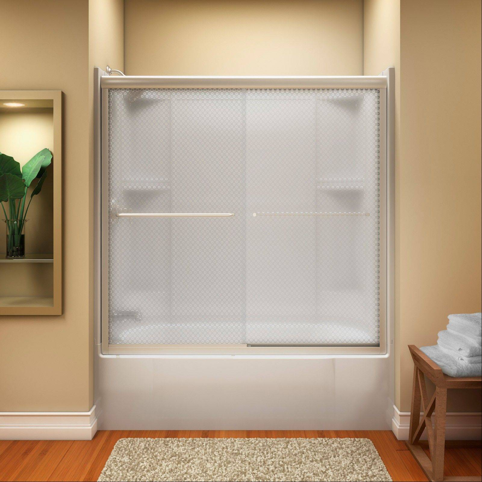 Upgrading to a glass shower door can add beauty to a bathroom and value to a home.