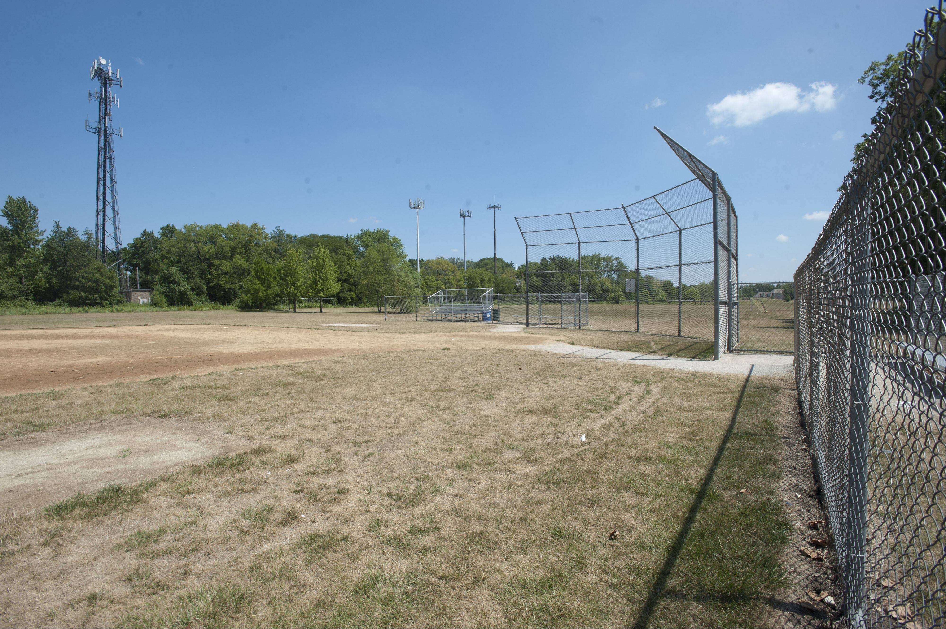 The planned renovations at Meadow Glens Park include new softball fields along with a skating pond and beanbag game equipment.