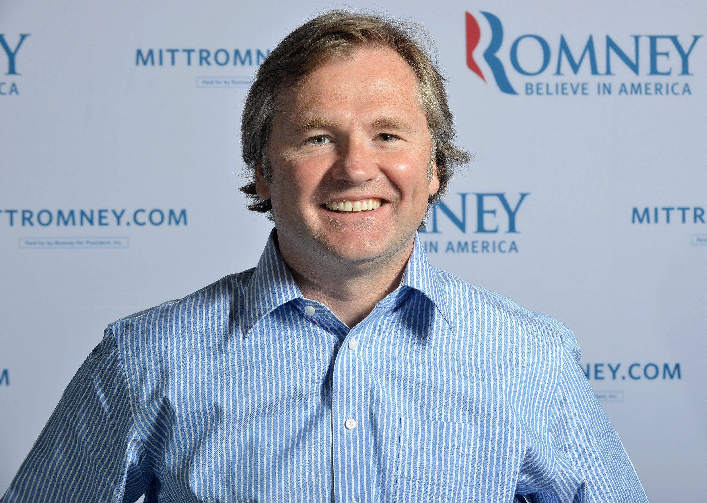 This June 1, 2012, file photo shows Romney Campaign senior adviser Eric Fehrnstrom at Republican presidential candidate's, Mitt Romney's, campaign headquarters in Boston, Mass. A former newspaper reporter, Fehrnstrom has served as Romney's spokesman since he was governor. He frequently travels with Romney and is considered an authority on Romney's record in Massachusetts.