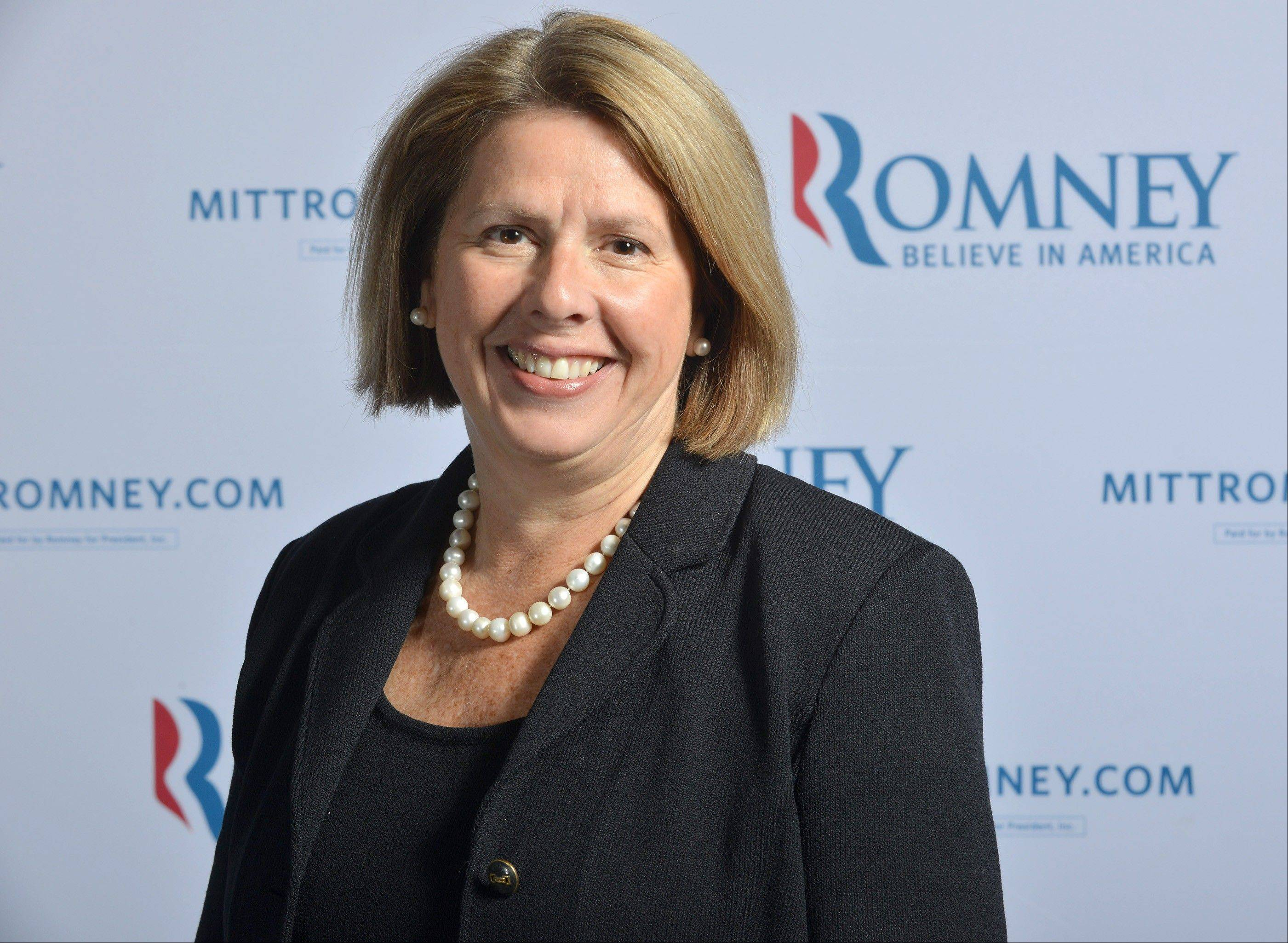 This June 1, 2012 file photo shows Romney Campaign senior adviser Beth Myers at Republican presidential candidate's, Mitt Romney's, campaign headquarters in Boston, Mass. Myers was Romney's chief of staff during his term as Massachusetts governor. She also ran his 2008 bid and is now leading his search for a vice presidential running mate. Myers is personally close to the candidate and his wife, Ann.