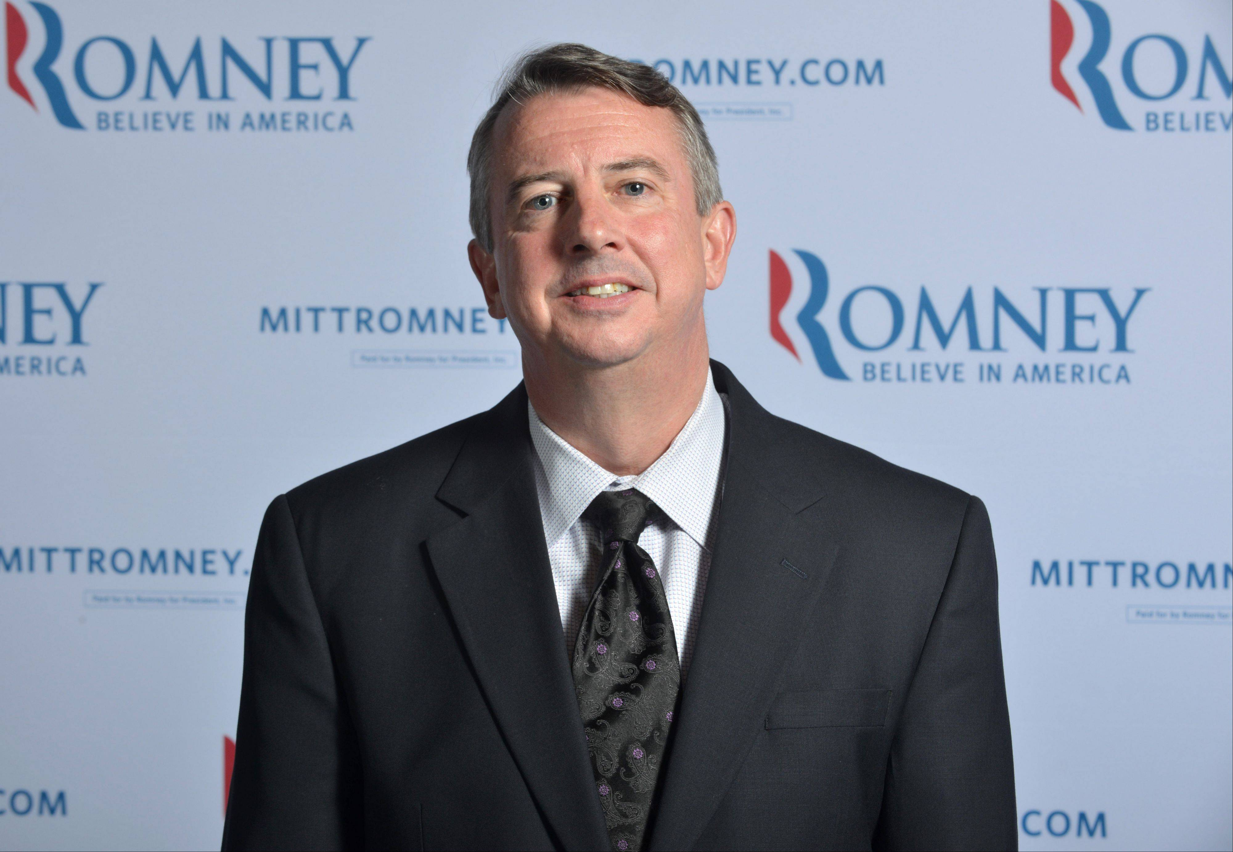 This June 1, 2012 photo shows Romney Campaign Senior Adviser Ed Gillespie at Republican presidential candidate Mitt Romney's,campaign headquarters in Boston, Mass. Gillespie is one of the few Romney aides with extensive presidential campaign experience. He headed the committee during President George W. Bush's 2004 re-election campaign and later joined the White House as an adviser.