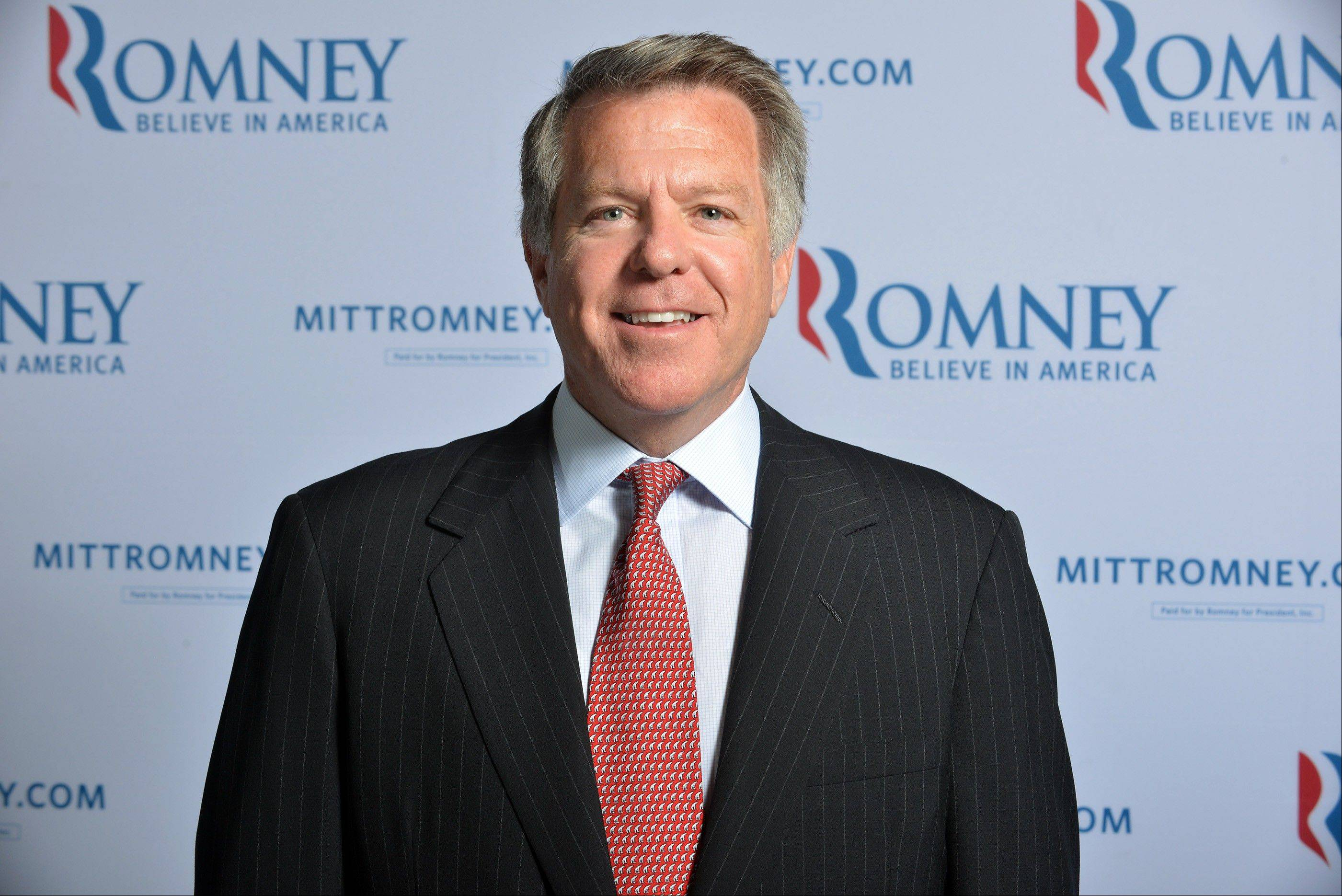 This June 1, 2012 file photo shows Romney campaign senior adviser Bob White at the Romney Campaign's headquarters in Boston. White doesn't have an official title, but he's worked with Romney since both were partners at Bain Capital, the private equity firm Romney helped start. Romney called White for help running the 2002 Olympics in Salt Lake City, and he's been involved in every one of Romney's political campaigns.