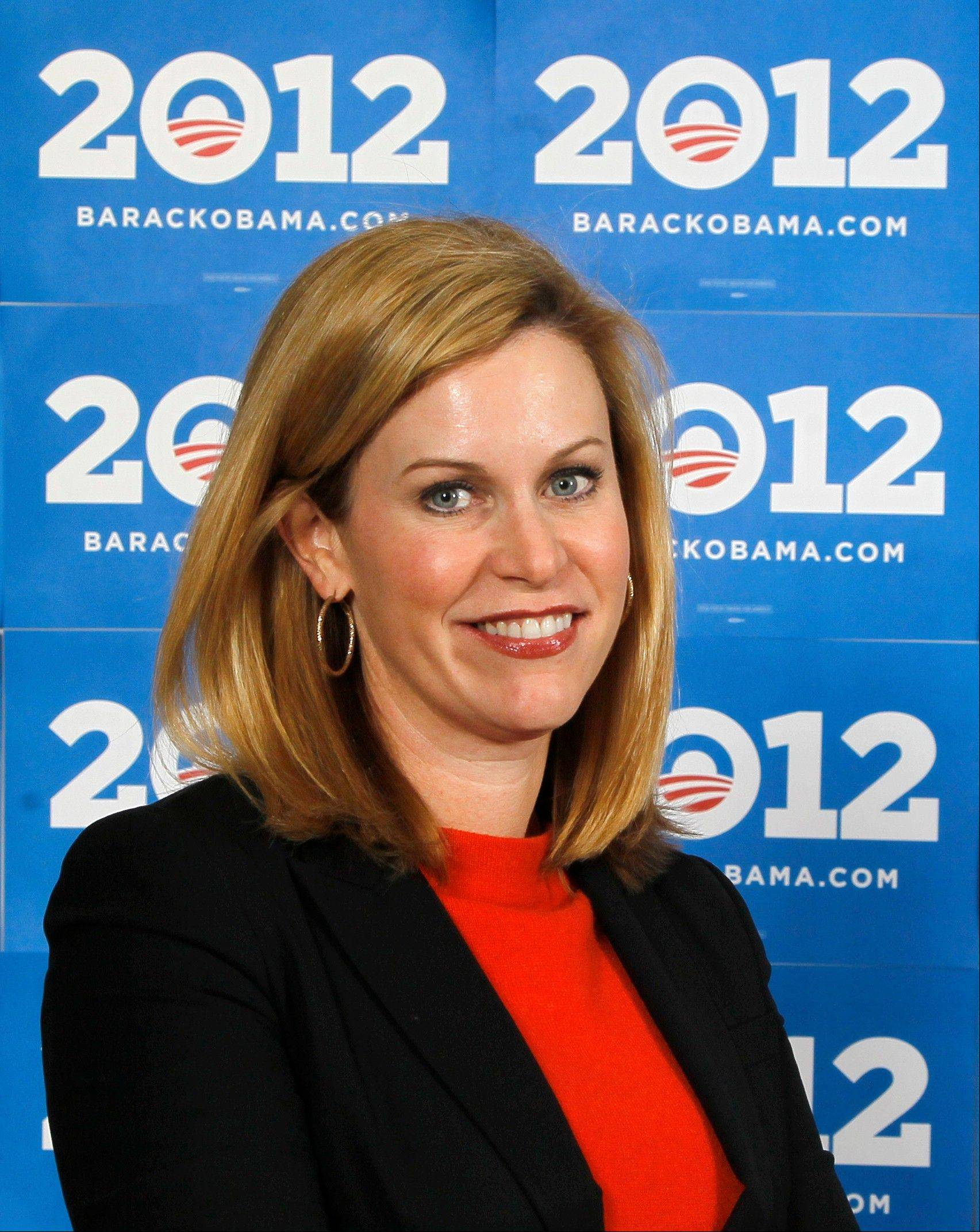 This Dec. 28, 2011, file photo shows Obama 2012 deputy campaign manager Stephanie Cutter at the Chicago headquarters. Cutter, who has become a forceful voice in the campaign, is a veteran of Kerry's presidential campaign. She has been a blunt defender of Obama's policies on cable television while criticizing Romney's business record and tenure as governor of Massachusetts, Cutter's home state.
