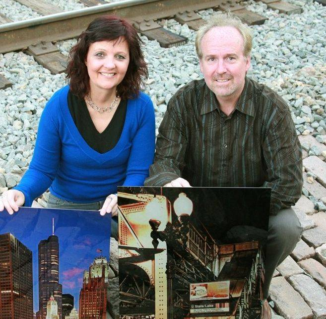 Husband wife photographic team Gail and Dale Horn of Hawthorn Woods recently started an upscale cutting-edge photography on metal business.