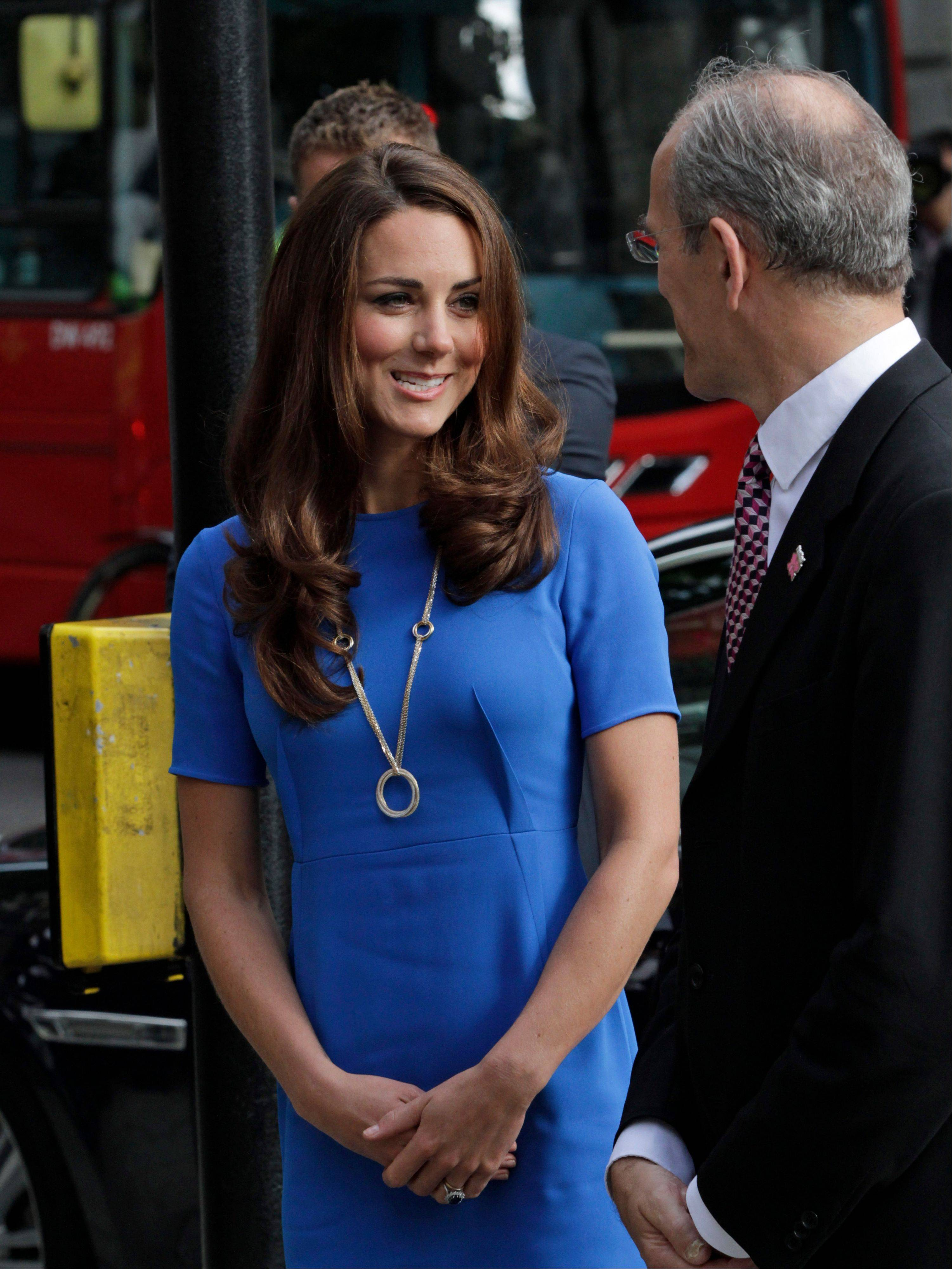 Kate, Duchess of Cambridge, will be on hand to watch gymnastics and synchronized swimming at the Olympics.