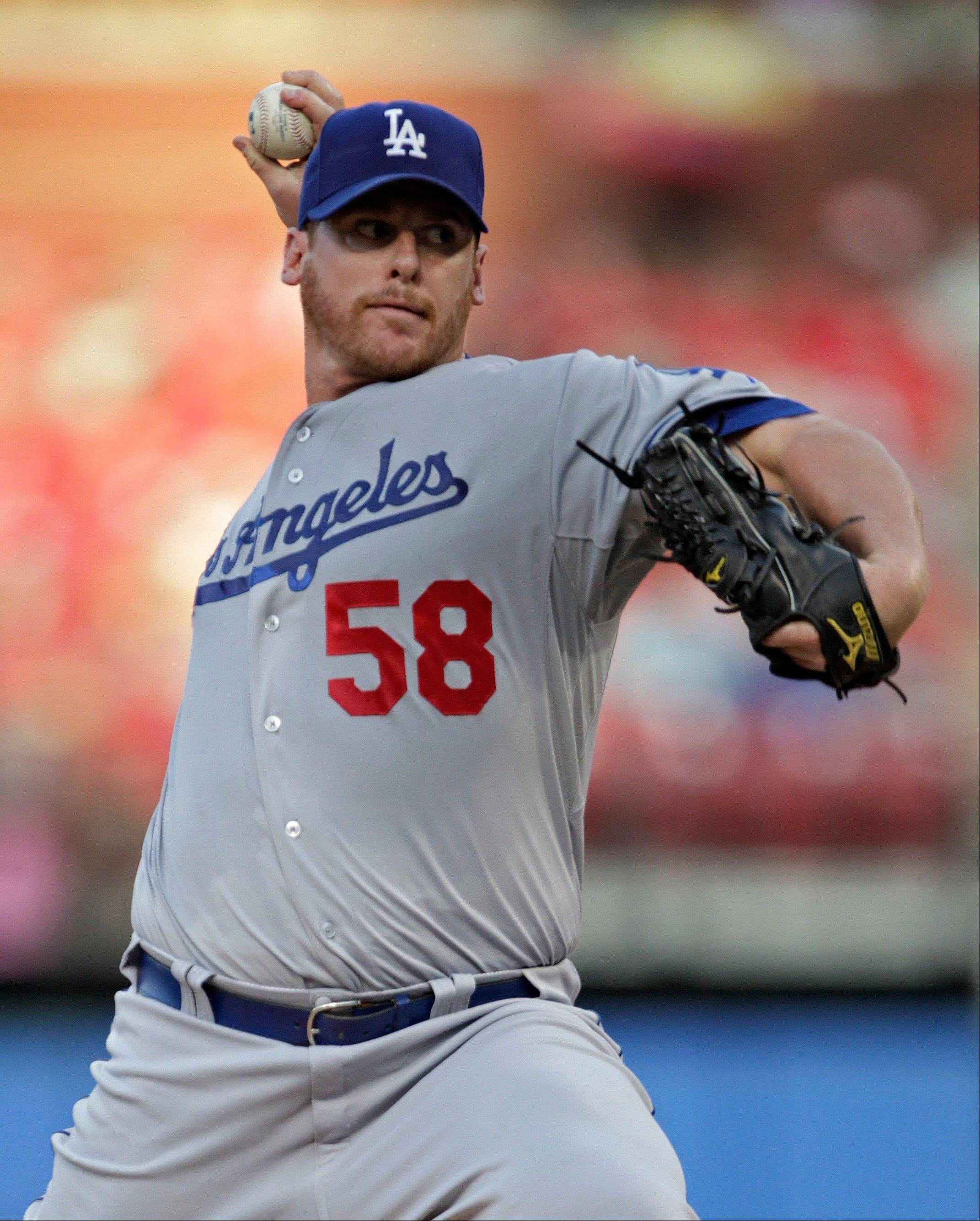 Los Angeles pitcher Chad Billingsley allowed a run and four hits in six innings Monday in St. Louis to win for the first time since June 10.