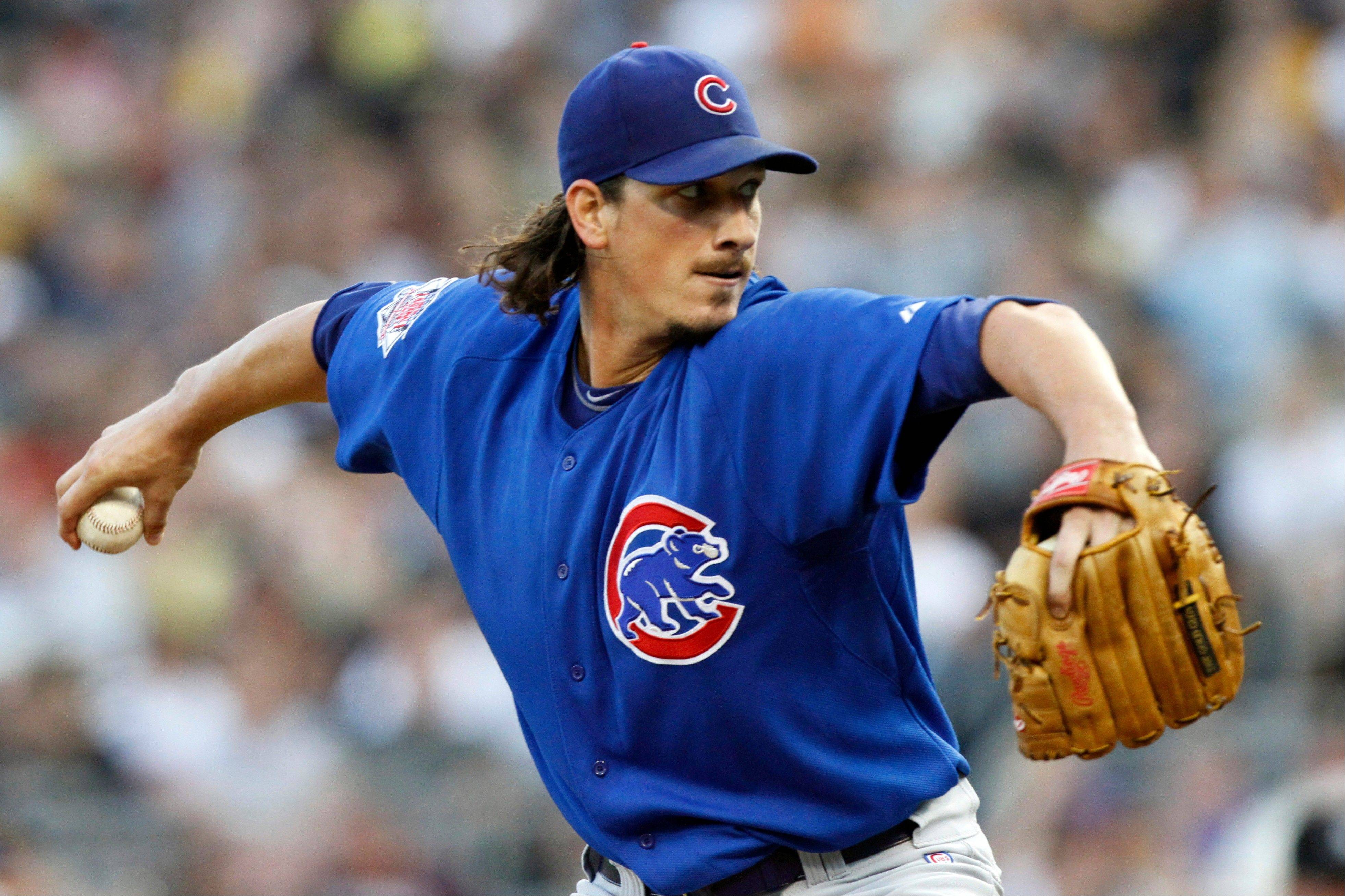 Cubs starting pitcher Jeff Samardzija throws Monday against the Pittsburgh Pirates in the third inning at PNC Park.