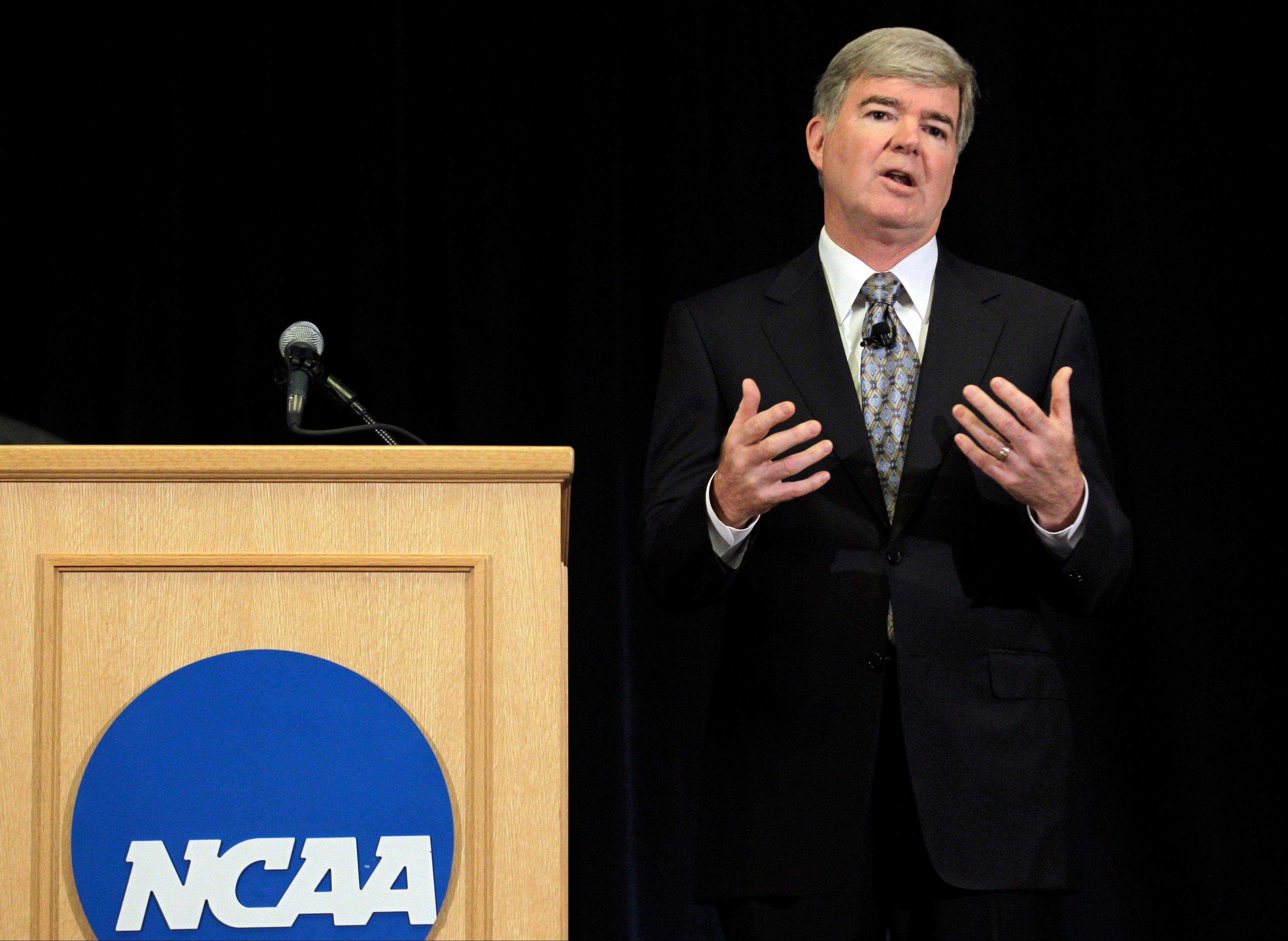 NCAA President Mark Emmert handed down an unprecedented series of penalties Monday morning to Penn State, including a $60 million fine and the loss of all coach Joe Paterno's victories from 1998-2011, in the wake of the Jerry Sandusky child sex abuse scandal.