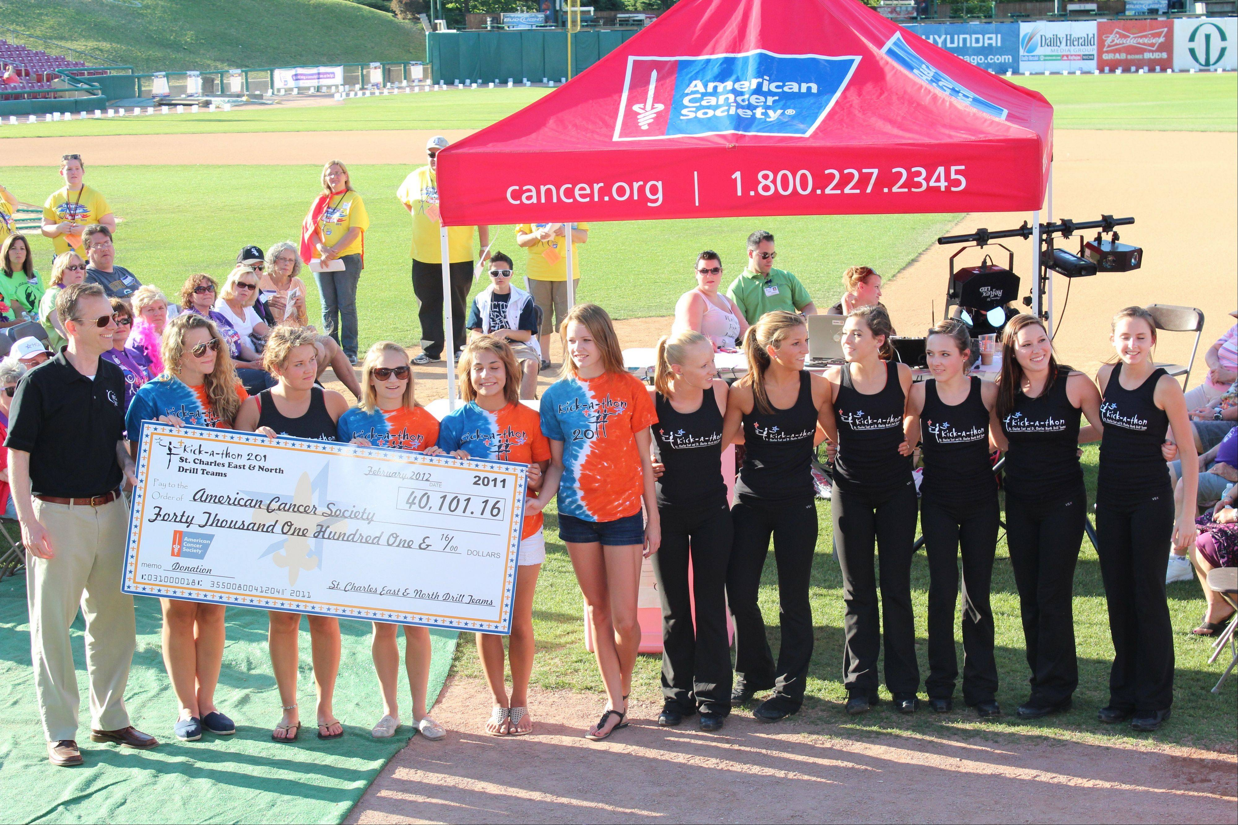 St. Charles drill teams kick up $40,000 for cancer society