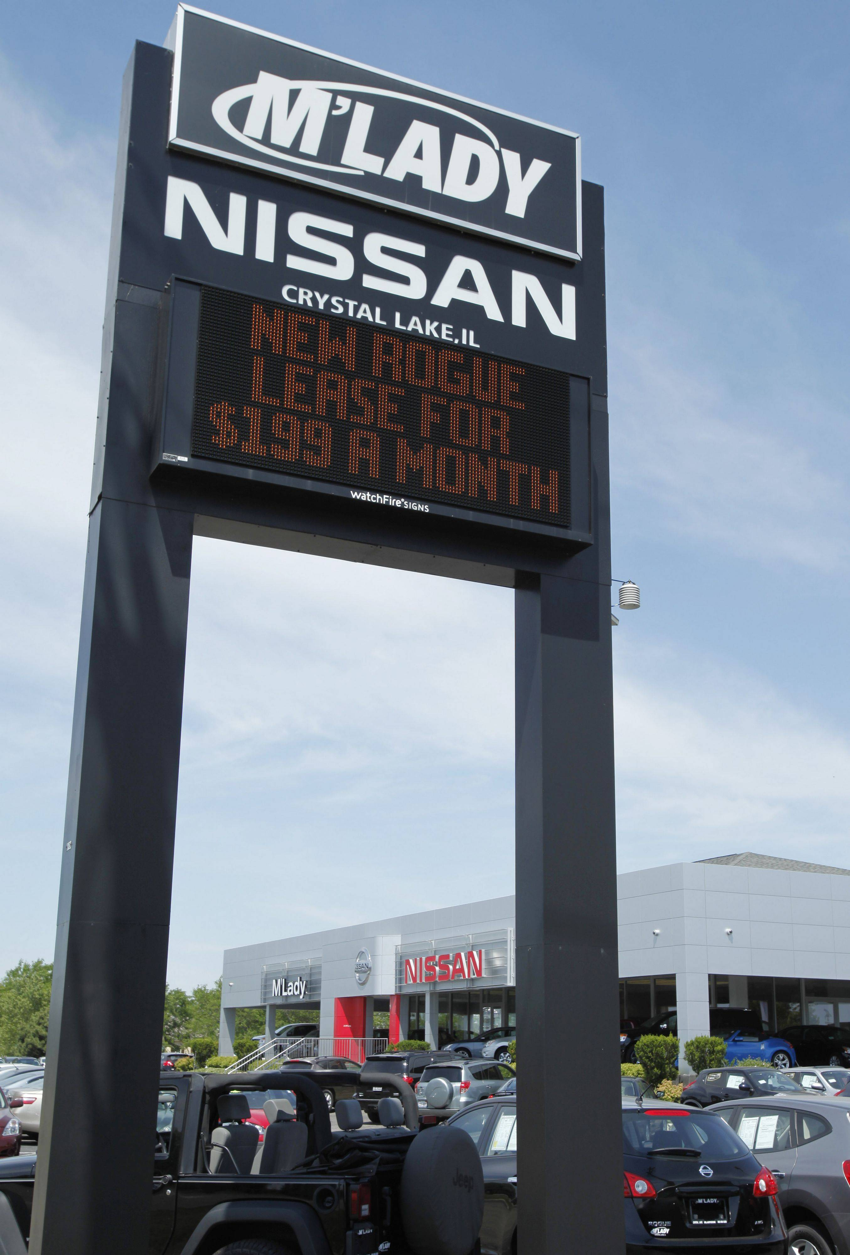 M'Lady Nissan dealership in Crystal Lake for dealer profile.