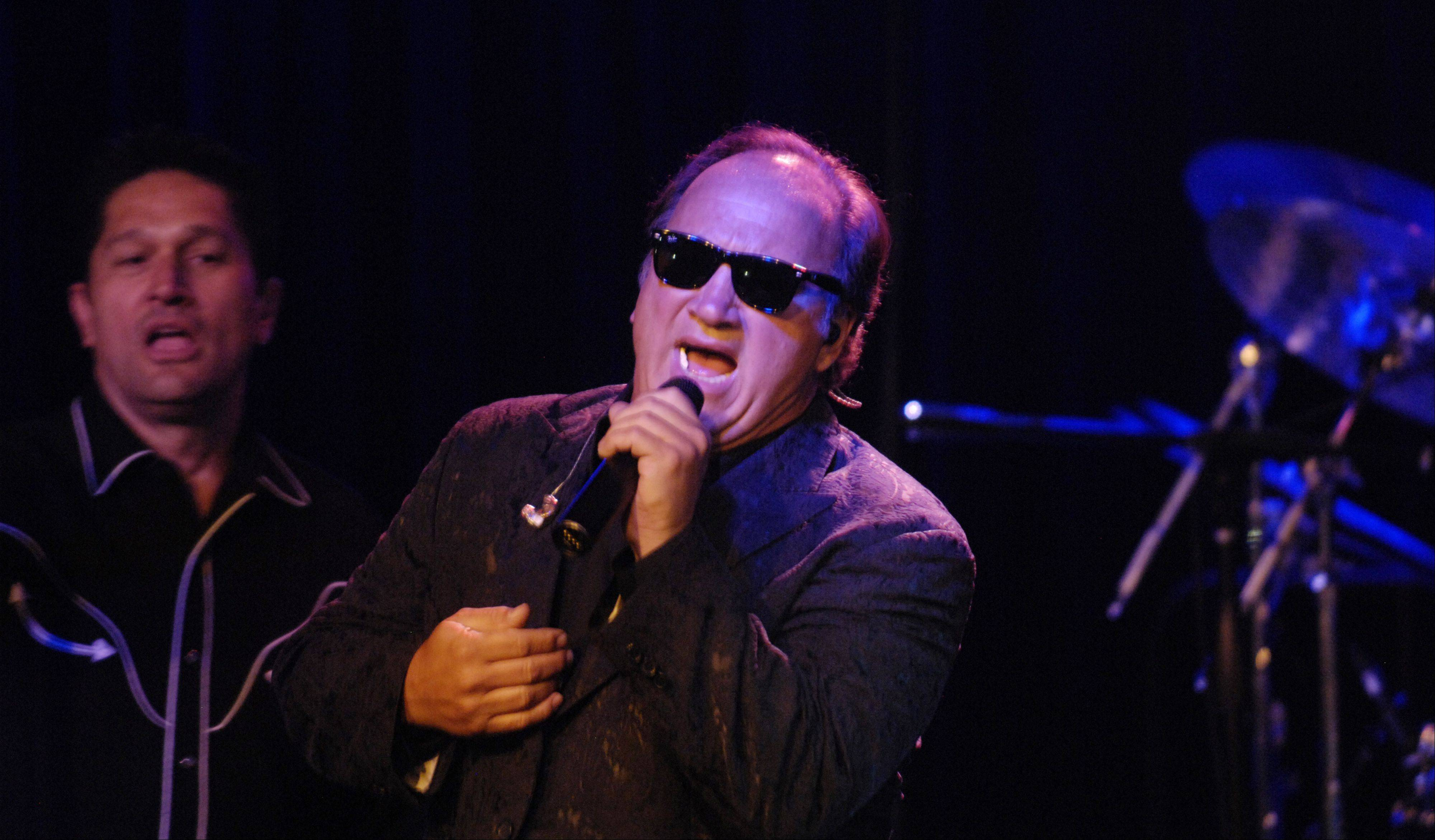JOE LEWNARD/jlewnard@dailyherald.comJim Belushi and the Sacred Hearts perform for the Rivers Casino anniversary in Des Plaines Wednesday.