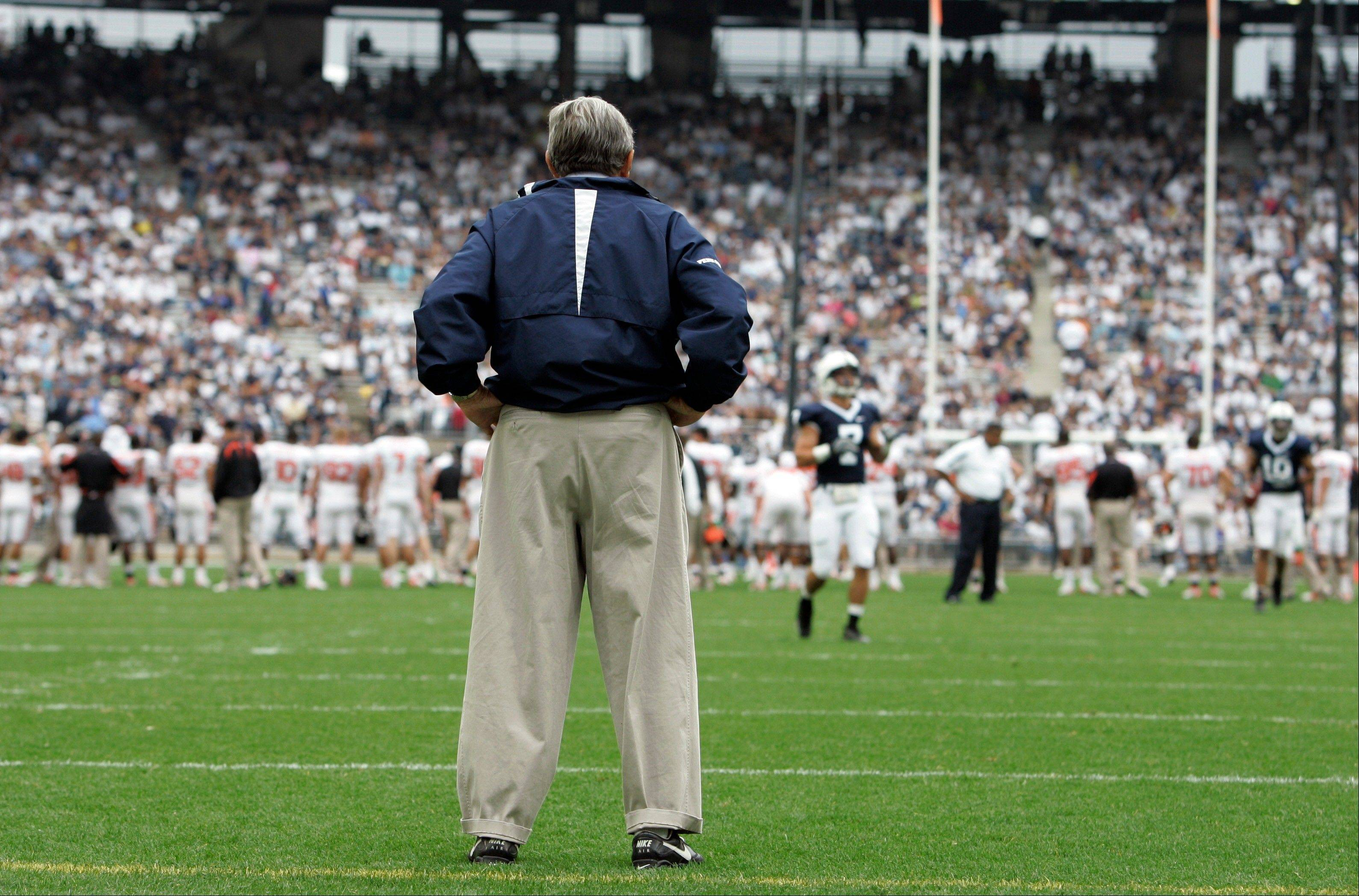 The legacy of the late Penn State football coach Joe Paterno took another big hit Monday with the announcement of NCAA sanctions.