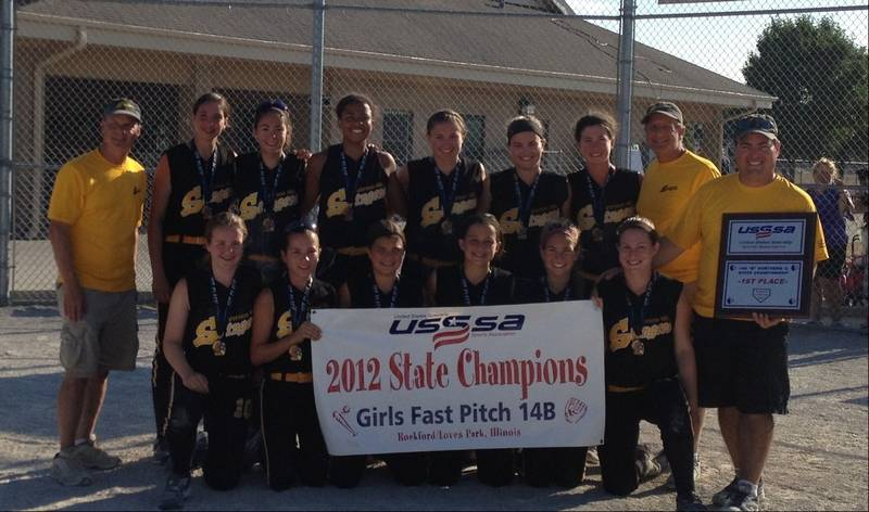The Vernon Hills Stingers 14U Gold team won the United States Specialty  Sports Association State tournament