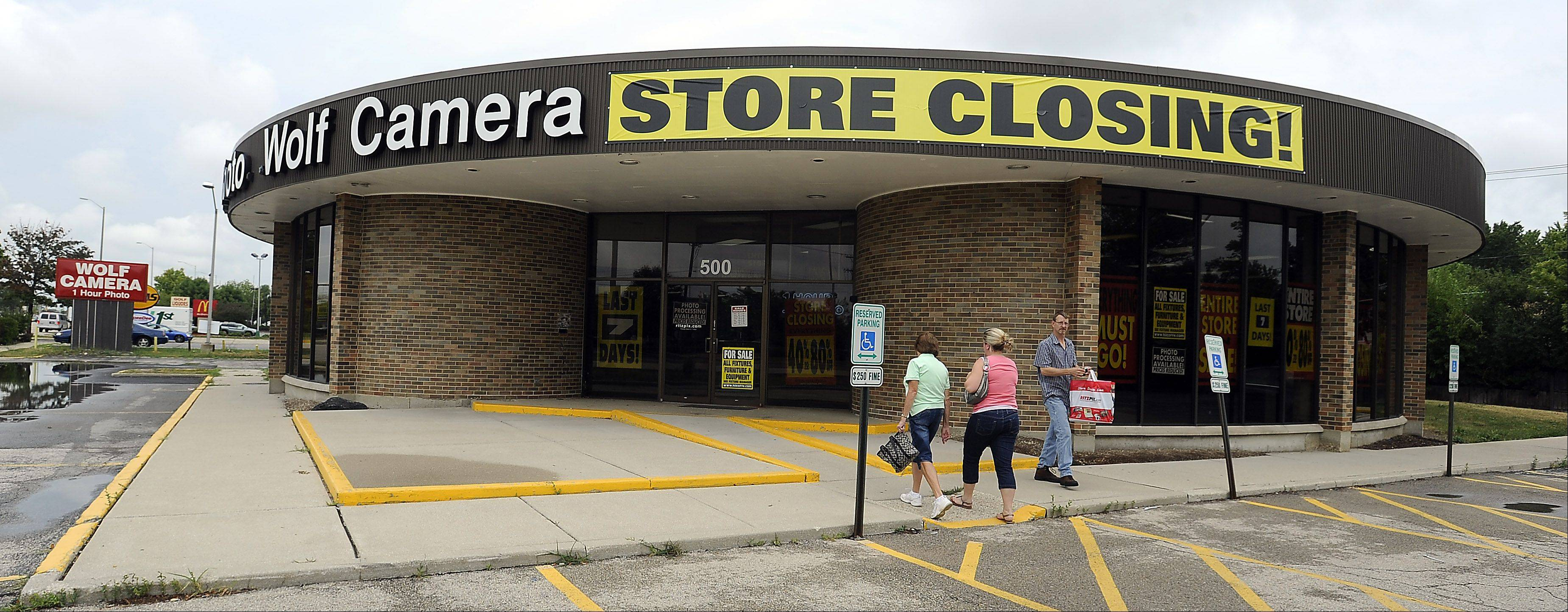 Wolf Camera, 500 W. Golf Road, in Schaumburg will close on Monday, July 30.