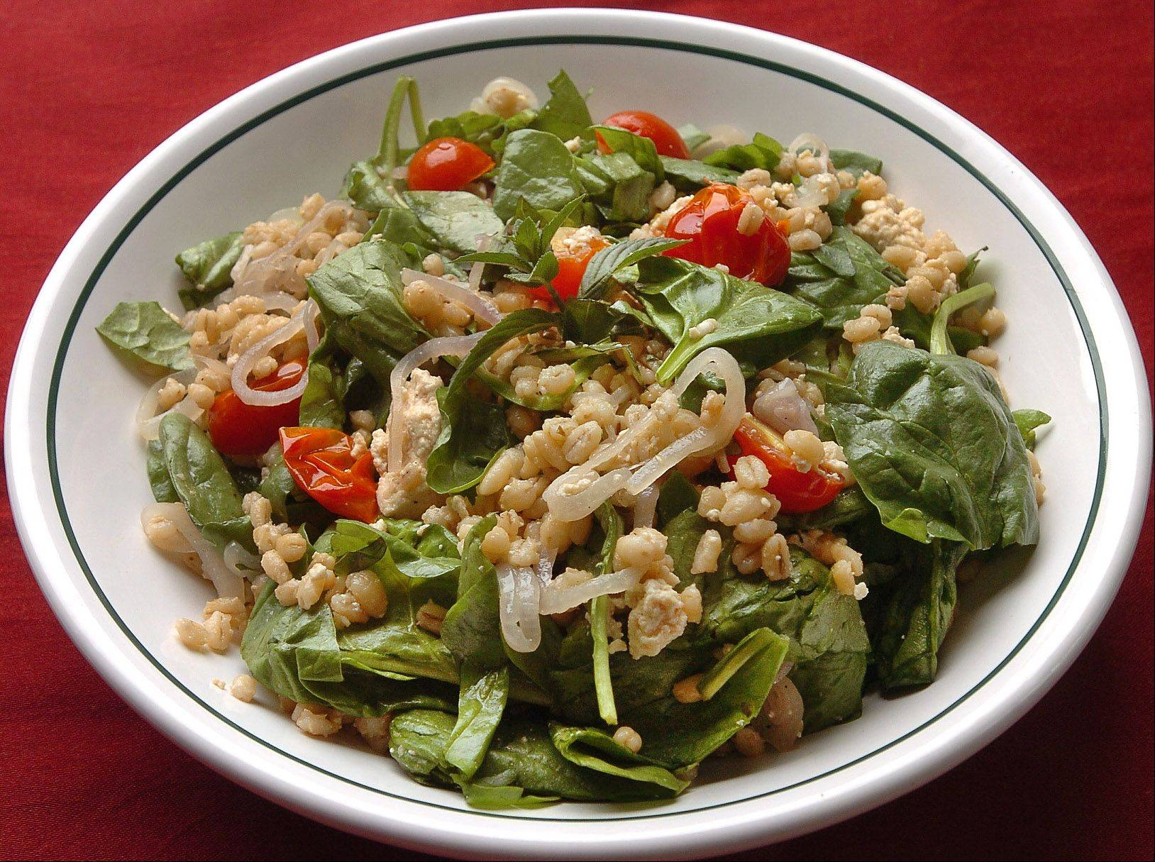 Barley and Spinach Salad