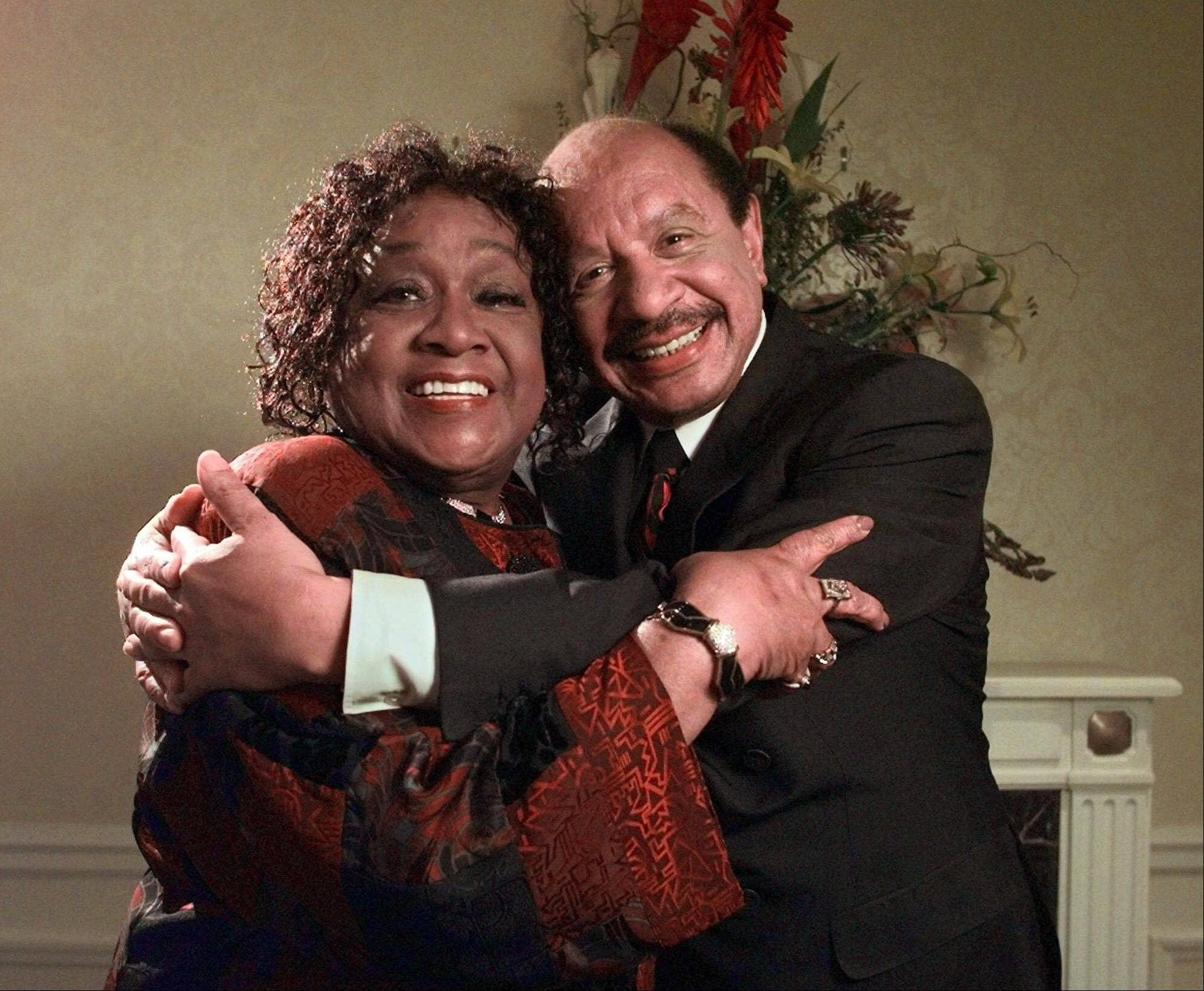Isabel Sanford, left, and Sherman Hemsley, stars the television sitcom �The Jeffersons,� pose for a photograph in New York. Hemsley, the actor who made the irascible, bigoted George Jefferson of �The Jeffersons� one of television�s most memorable characters, was found dead Tuesday.