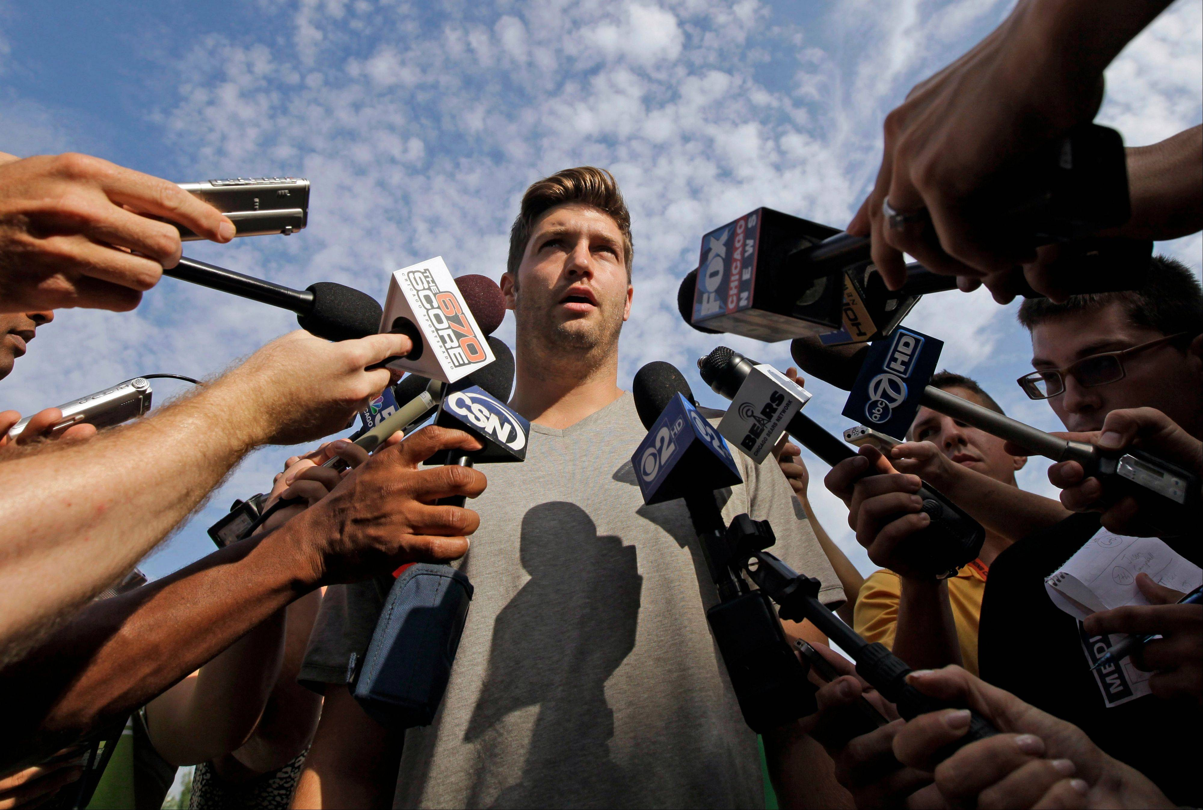 "Jay Cutler said Tuesday that the Bears like having Lovie Smith. ""Lovie seems to be one of those guys that they say is on the hot seat every year,"" Cutler said. ""We like having Lovie around, and we're going to go out and do our best to keep him around here."""