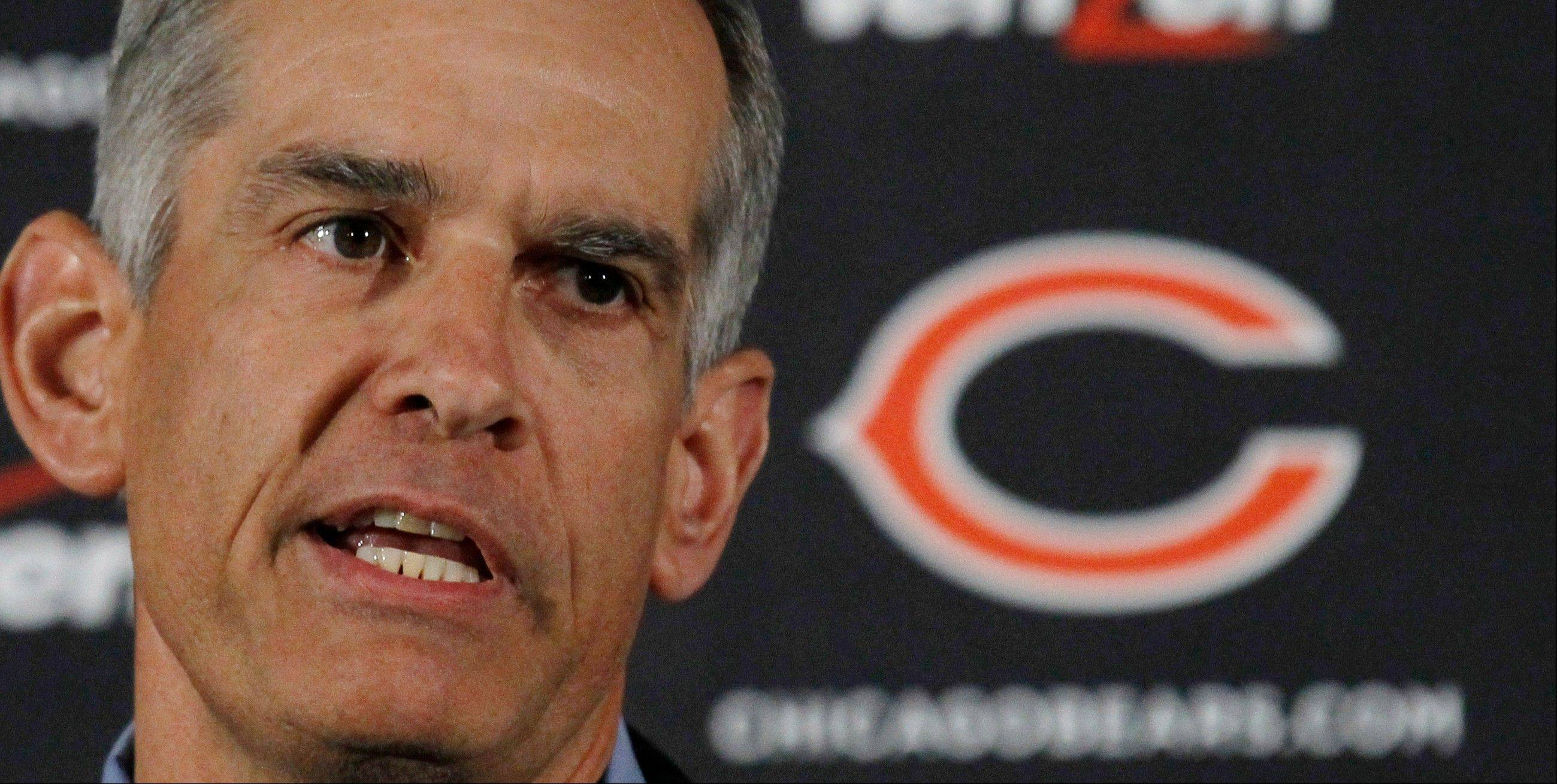 Phil Emery, the Chicago Bears general manager, says the Bears have some things to prove before they can be considered a Super Bowl contender. That label, he said, has to be earned on the field.