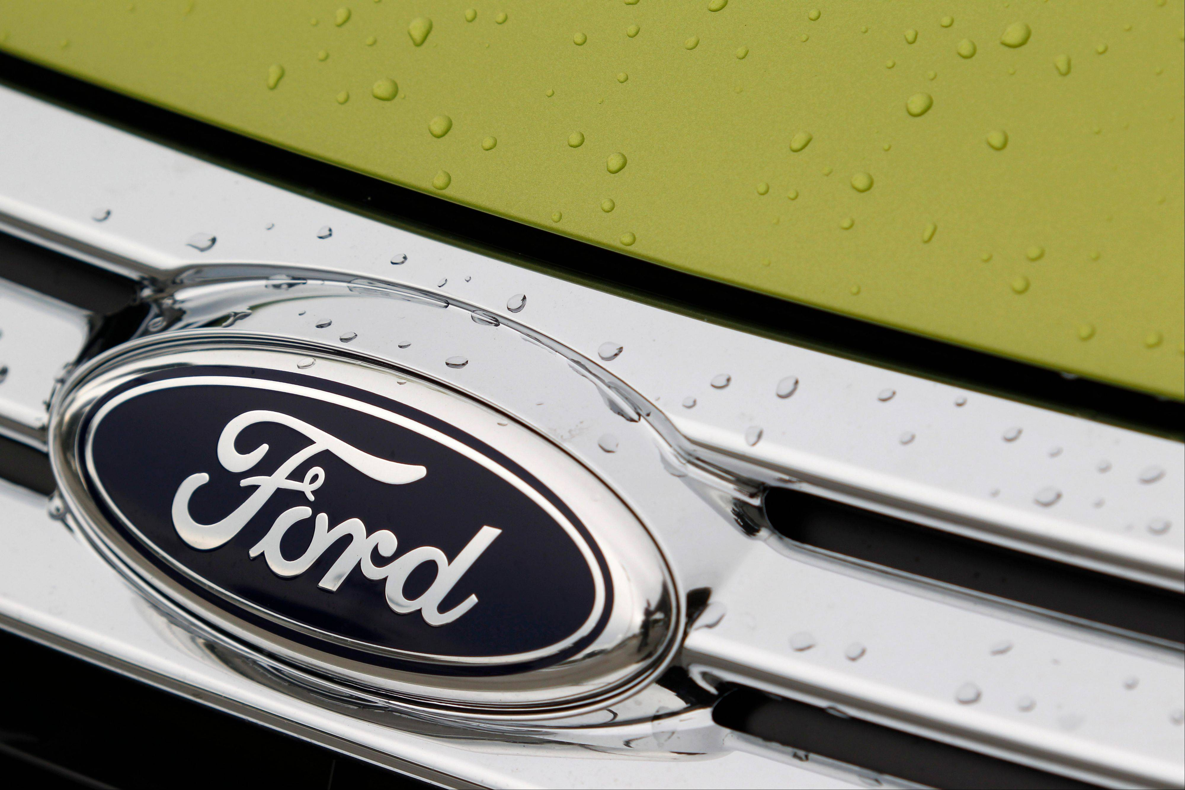 Ford�s profit fell 57 percent in the second quarter as losses in Europe and Asia swamped a healthy performance in North America.