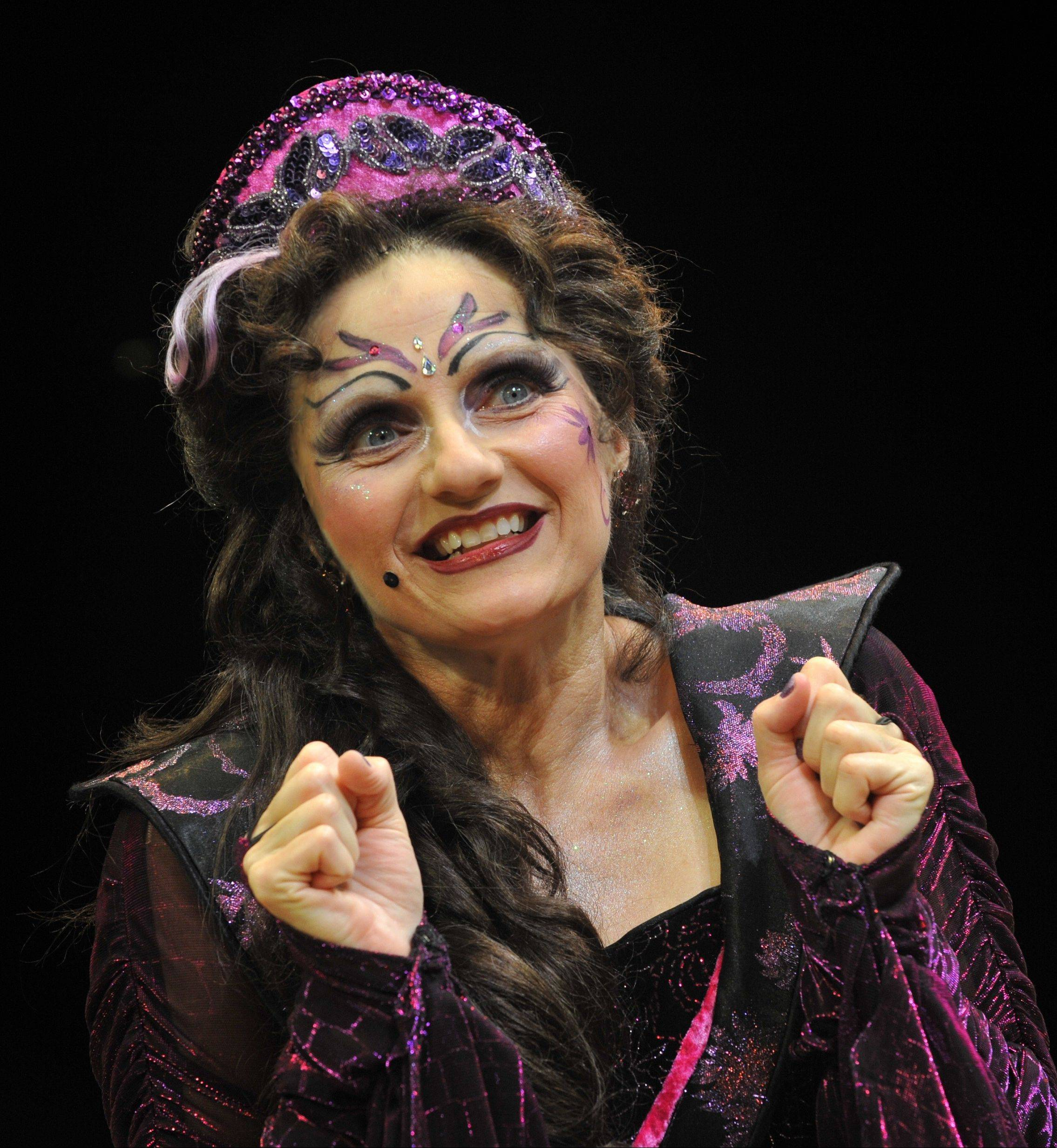 "Catherine Lord of Naperville plays the evil witch Magenta in the Marriott Theatre's ""Sleeping Beauty."""