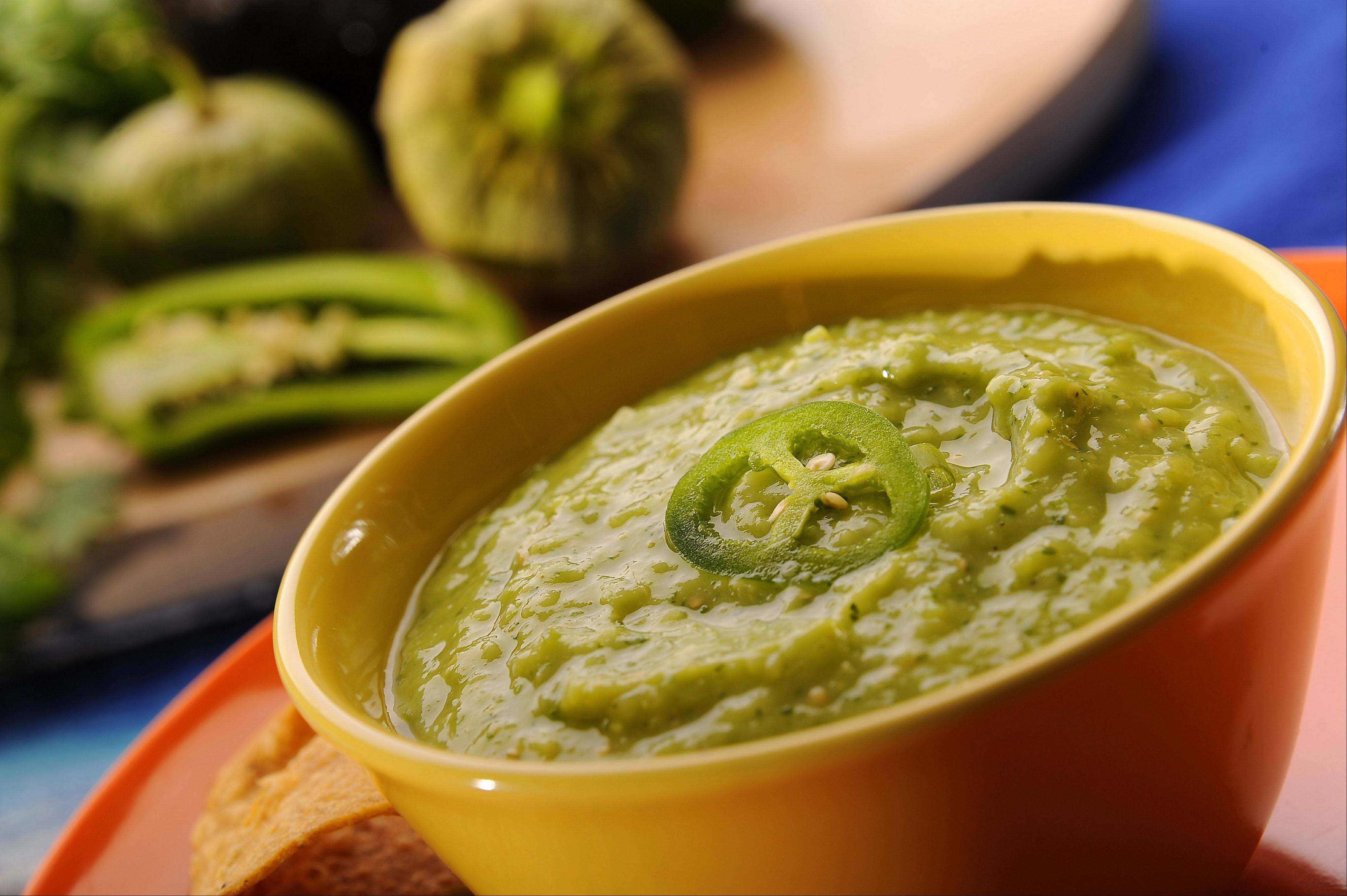 Tomatillos give a citrusy tang to this quick and easy chilled soup.