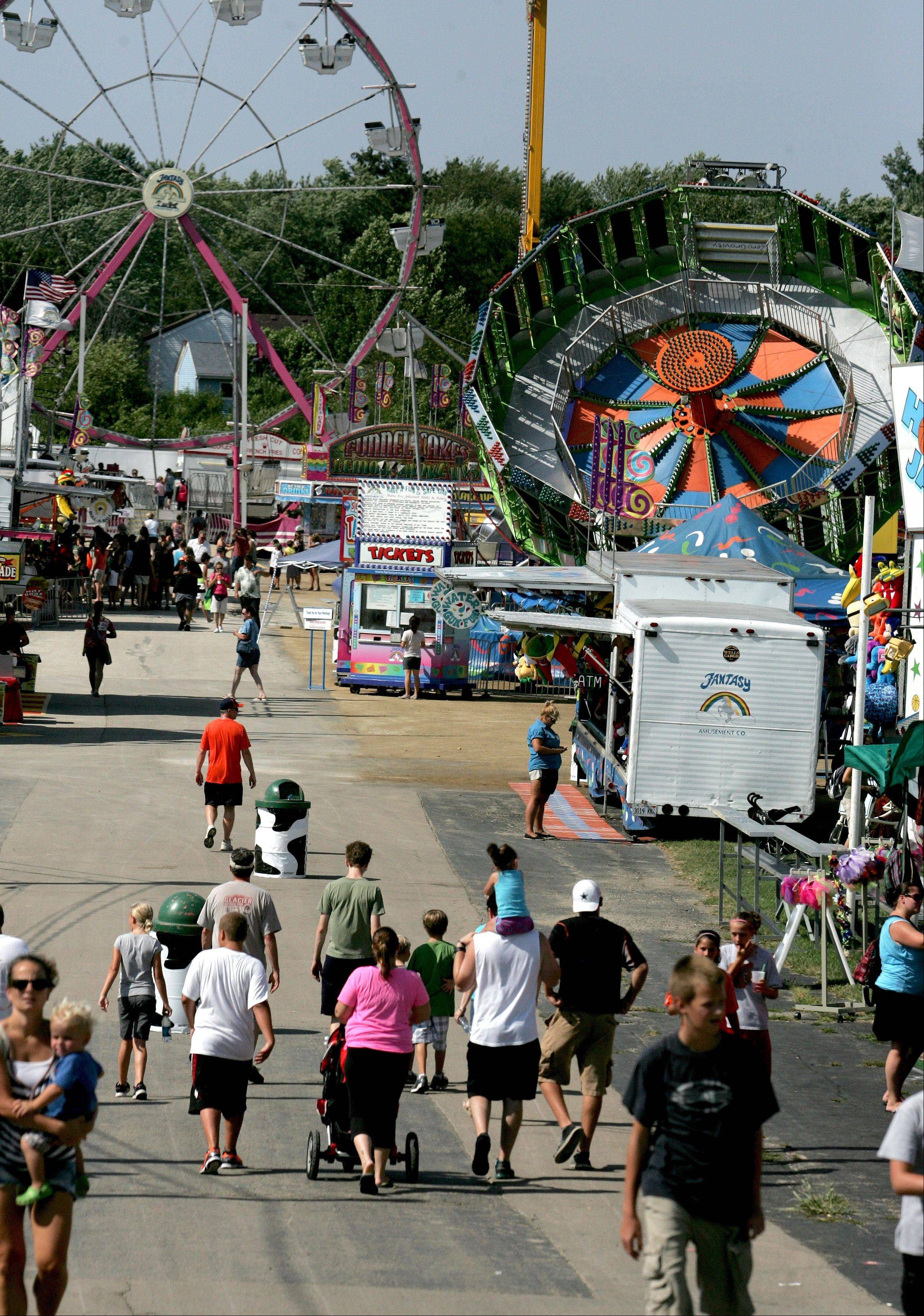The opening day of the DuPage County Fair in Wheaton on Wednesday.