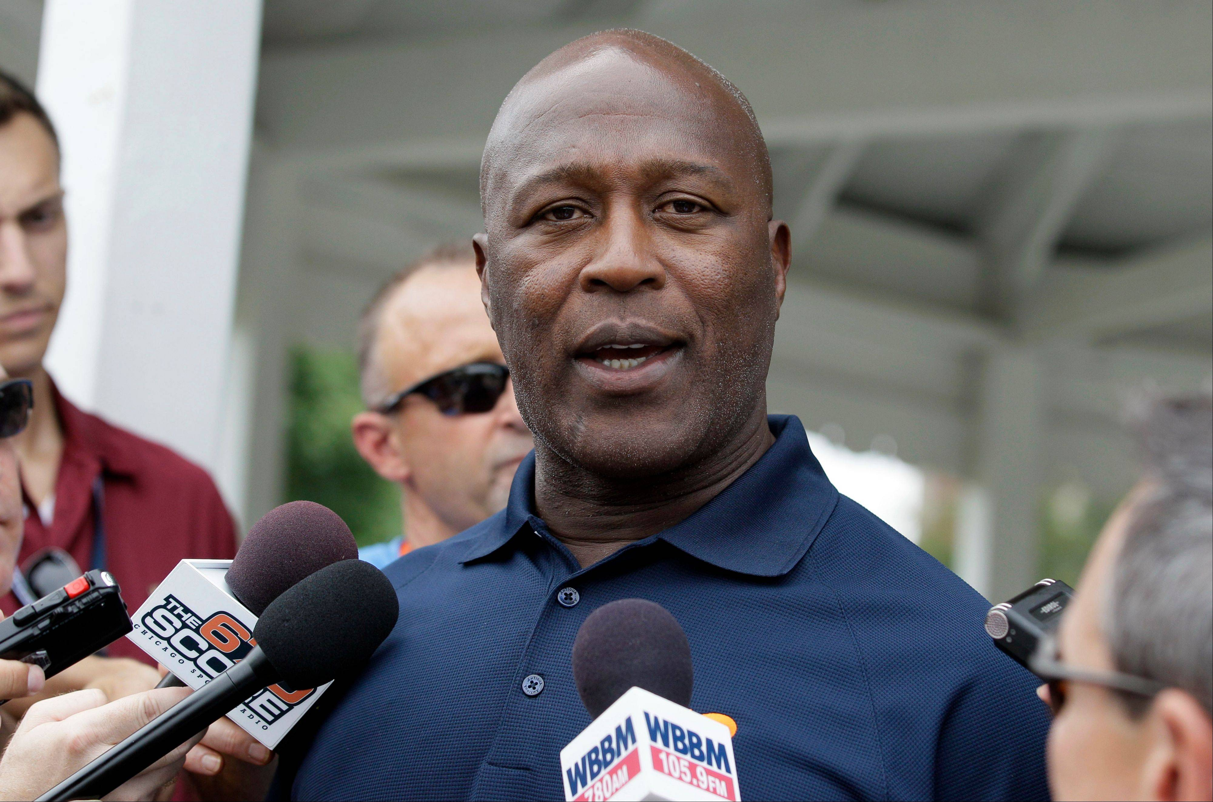 Bears coach Lovie Smith, who is in the last year of his contract, says there's always pressure in Chicago to succeed.
