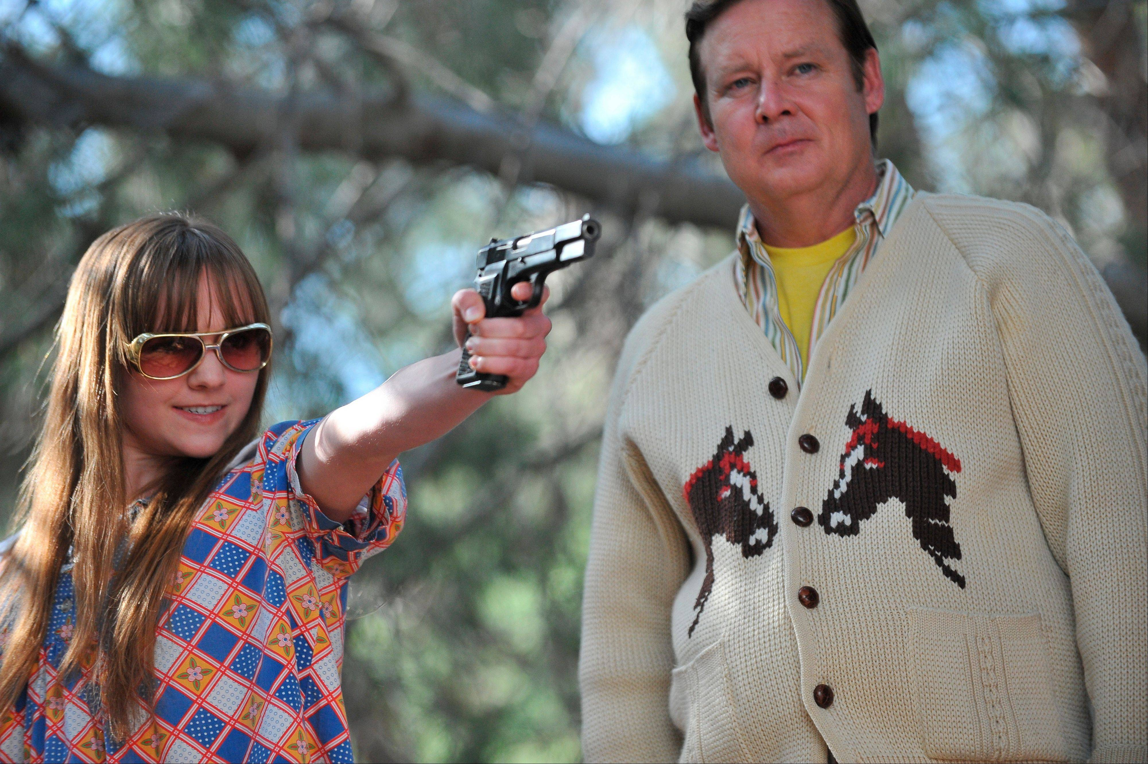 "Tara Lynne Barr, left, and Joel Murray from ""God Bless America,"" Bobcat Goldthwait's pitch-black comedy about a middle-aged man who recently learned he's dying of a brain tumor and his perky teenage sidekick who go on a killing spree."