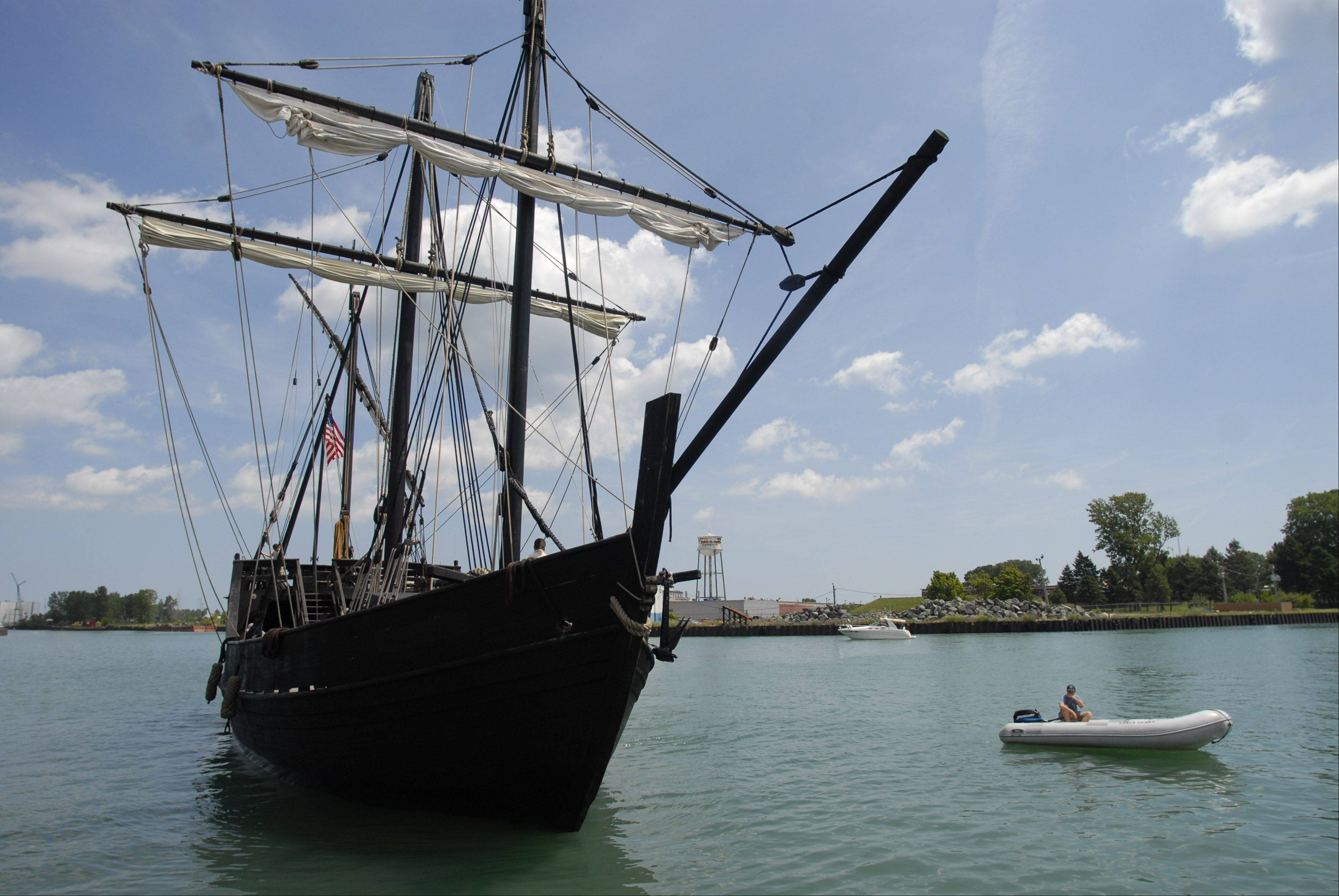 Replicas of Columbus' ships will come to Waukegan Harbor July 26-30.