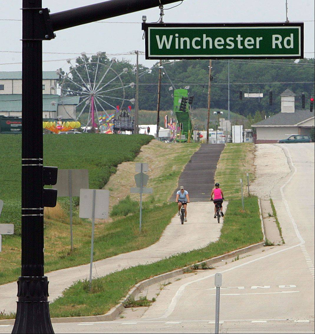 A new bike trail connecting several destinations in the Mundelein and Grayslake area was recently completed six weeks ahead of schedule. Users can take the Prairie Crossing bike path to the Lake County Fair, which starts today.