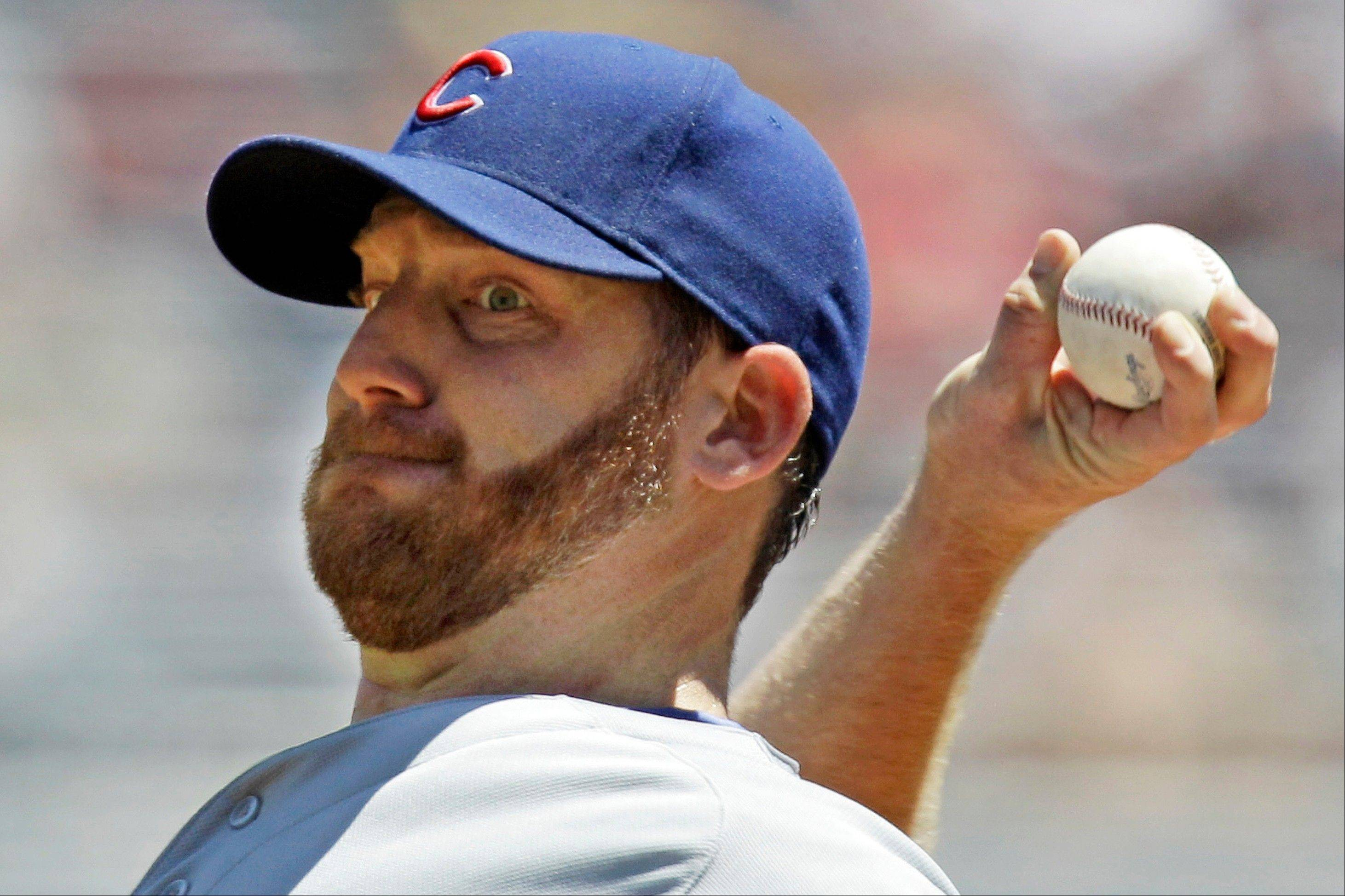 Cubs pitcher Ryan Dempster delivers Wednesday during the second inning against the Pittsburgh Pirates in Pittsburgh.