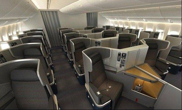 American Airlines says it will become the first U.S. airline to put lie-flat seats in new planes used on transcontinental flights.