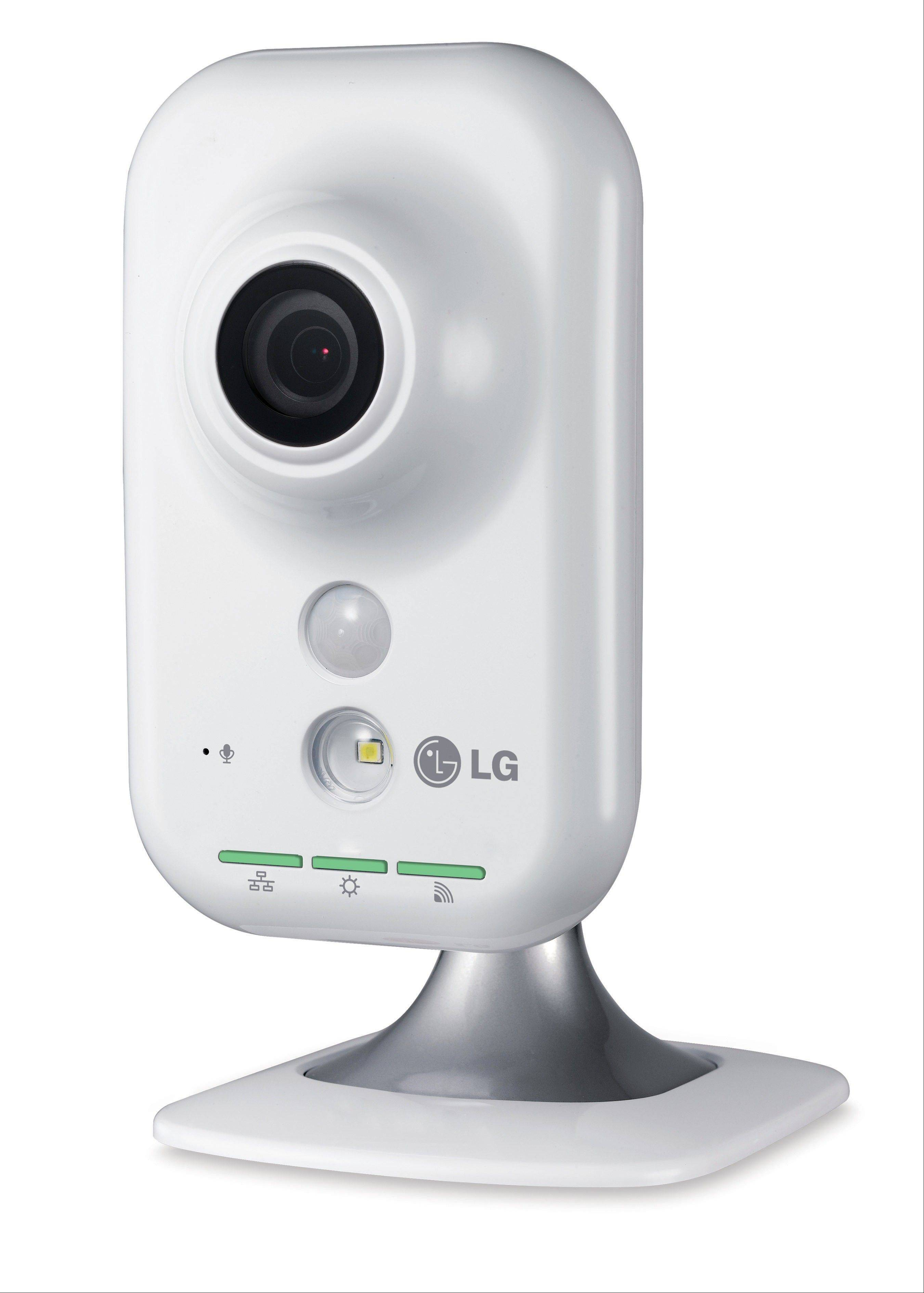 The new LG Wireless HD Network IP Cube Camera (model LW130W) offers high-definition video. It also has a free Android or iPhone application for remote viewing and monitoring from anywhere with smartphone connectivity.