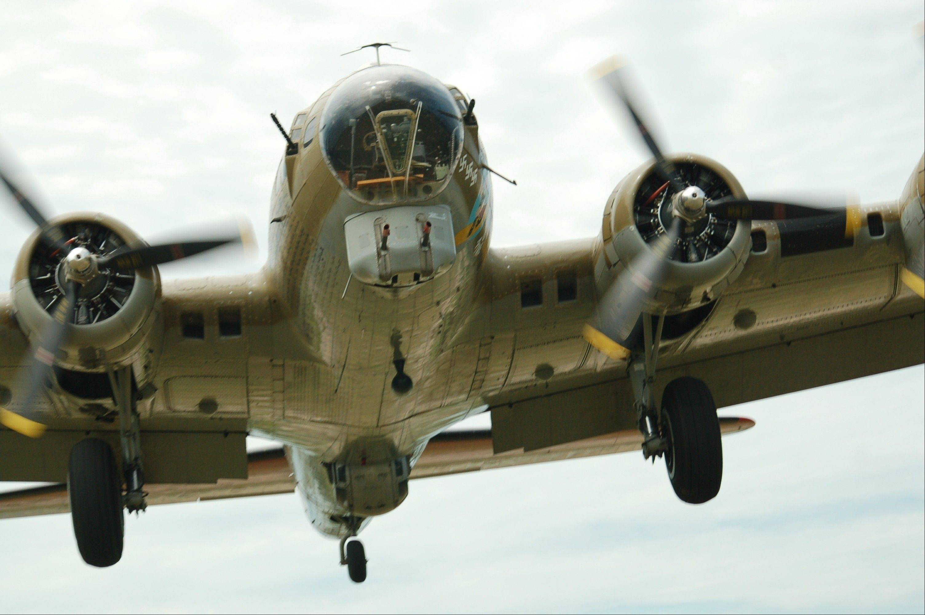A B-17 will be among the aircraft flying into Chicago Executive Airport on Friday.