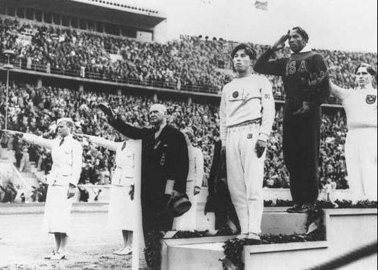 Jesse Owens shocked the world and Adolf Hilter by winning four gold mecals in Berlin in 1936.