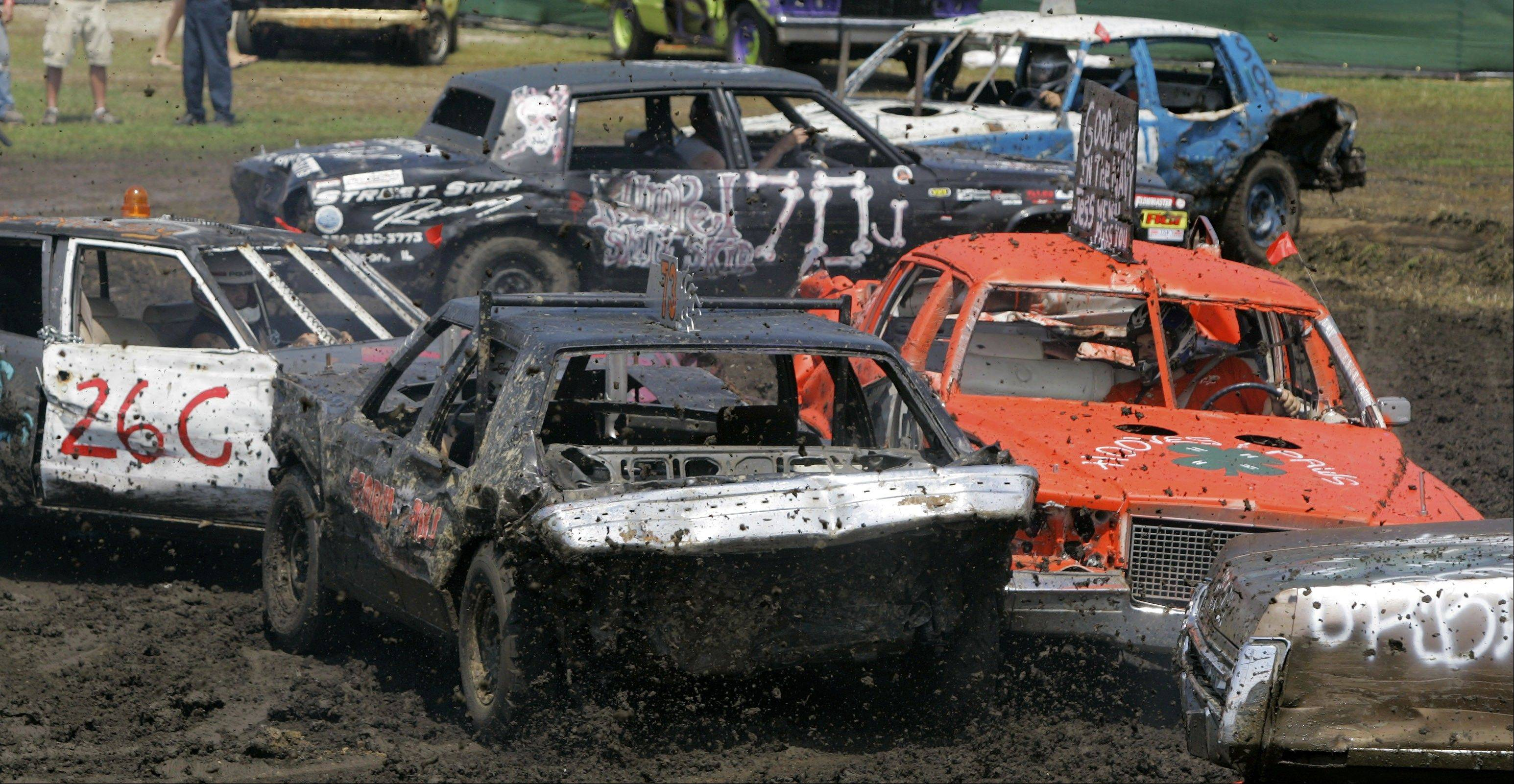 Cars will smash into each other at 2 and 7 p.m. Sunday, July 29, at the DuPage County Fair Demolition Derby in Wheaton.