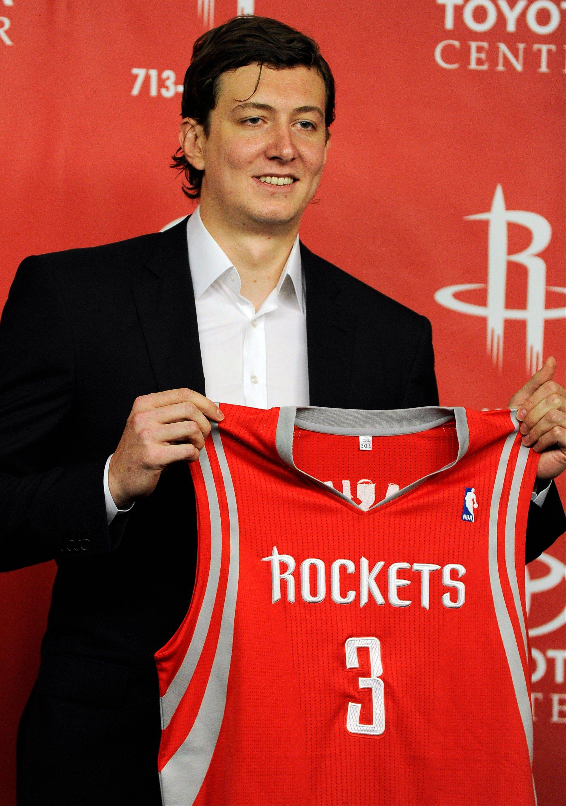 New Houston Rockets center Omer Asik signed a three-year, $25 million offer sheet and came to Houston when his former team, the Bulls, did not match.