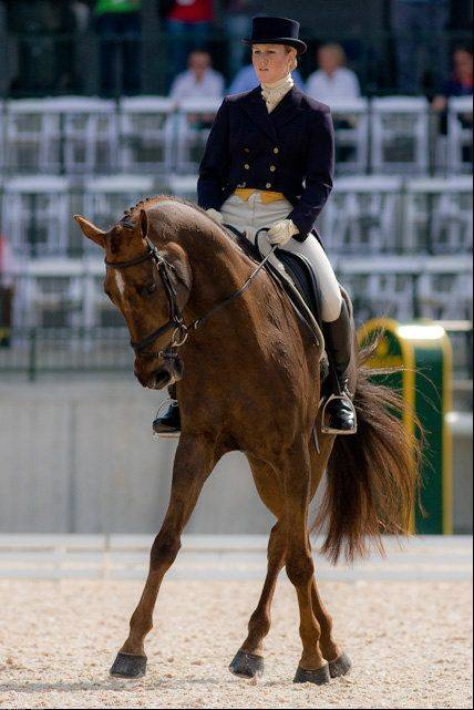 Barrington native Allison Springer competes in the 2012 Rolex competition. Springer is an alternate for team USA in the 2012 London olympics in the sport of equestrian.