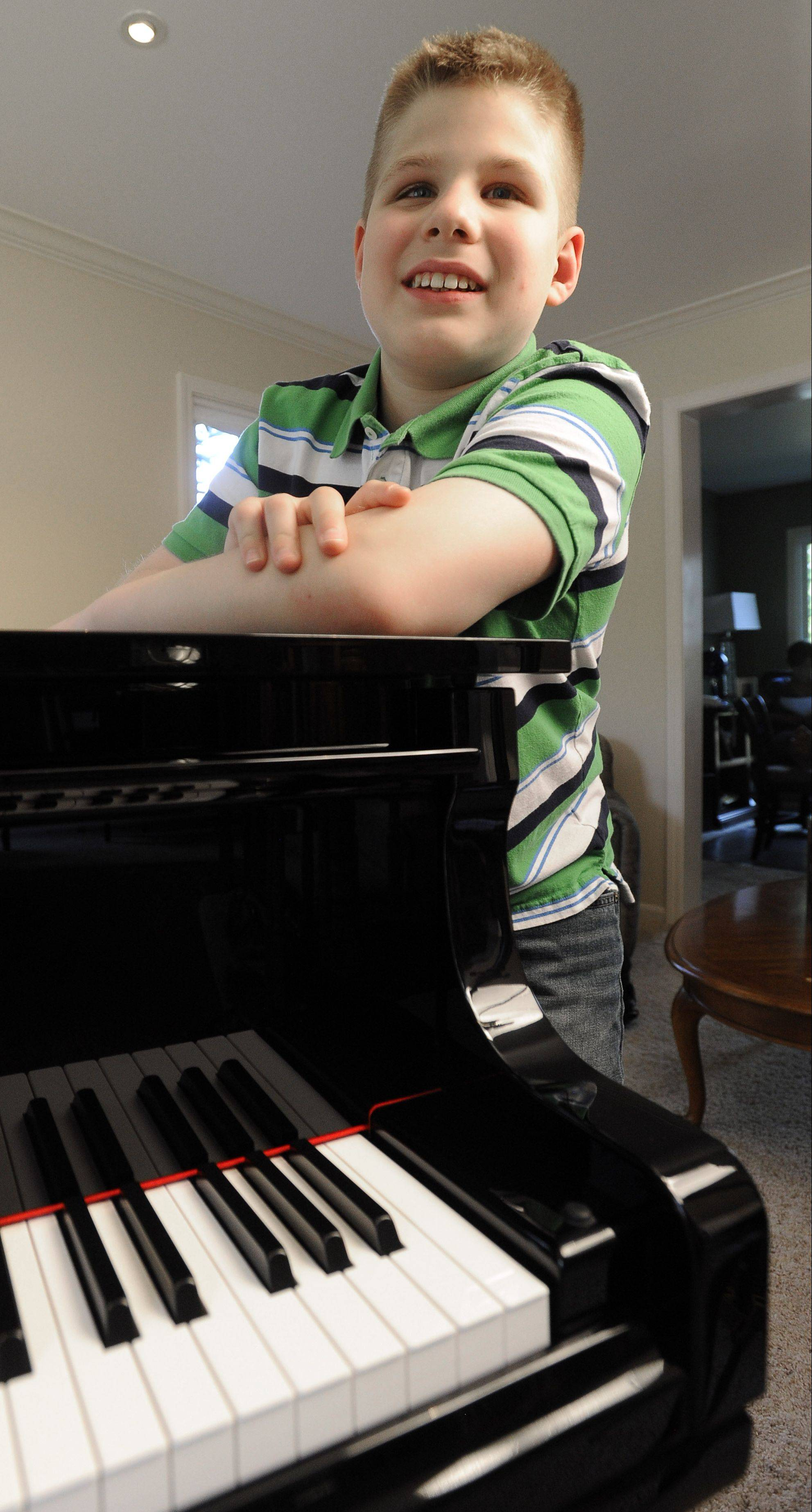 Elk Grove Village 12-year-old Jack Falejczyk has surprised teachers with his musical skills, obtained without being able to see what others do. His perfect pitch was noticed in his toddler days.